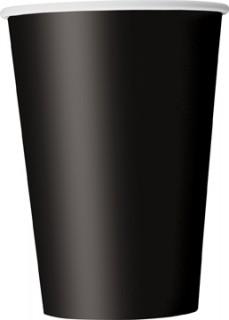 10 vasos cartón negro