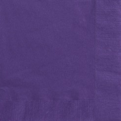 50 Servilletas papel violeta 33x33 cm
