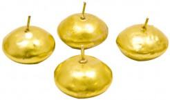 4 Velas flotantes doradas