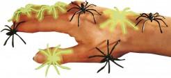Arañas negras fosforescentes Halloween