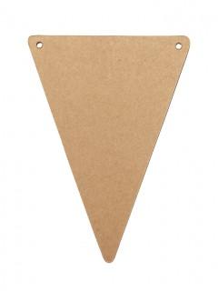 5 Banderines DIY cartón kraft