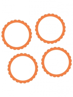 20 Pegatinas naranjas