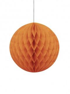 Bola papel alveolada naranja Halloween