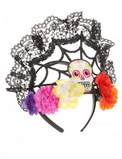 Diadema tiara flores colores mujer Día de los muertos