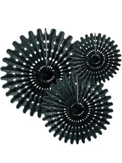 3 Rosetones papel negro 20,30 y 40 cm