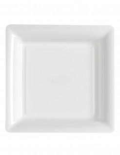 12 Platos cuadrados blancos 23,5 cm
