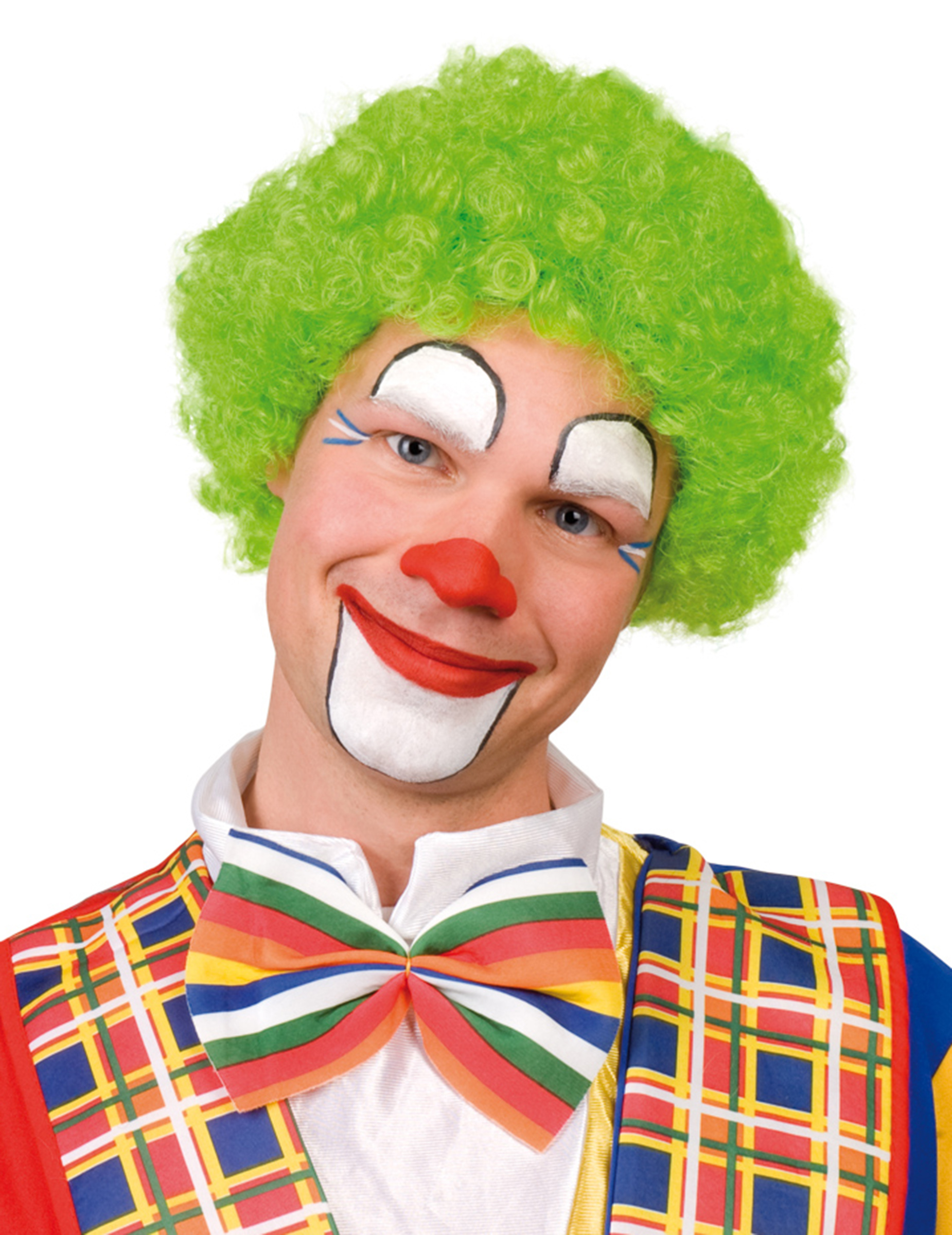Peluca afro verde de payaso para adulto for Clown schminken bilder