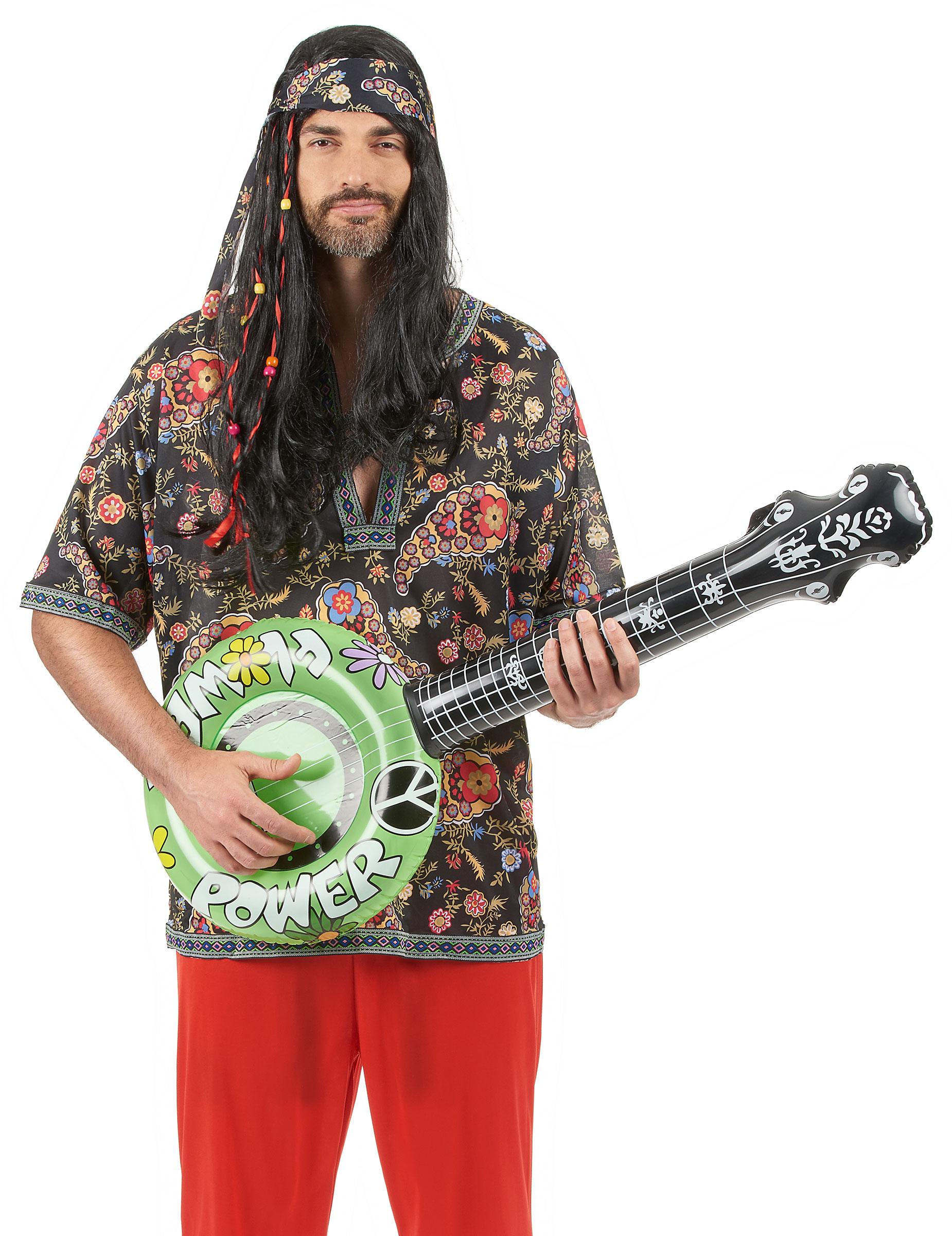 Inflable 100CM Neón Verde//Rosa//Naranja Banjo Fancy Dress Prop Hippie