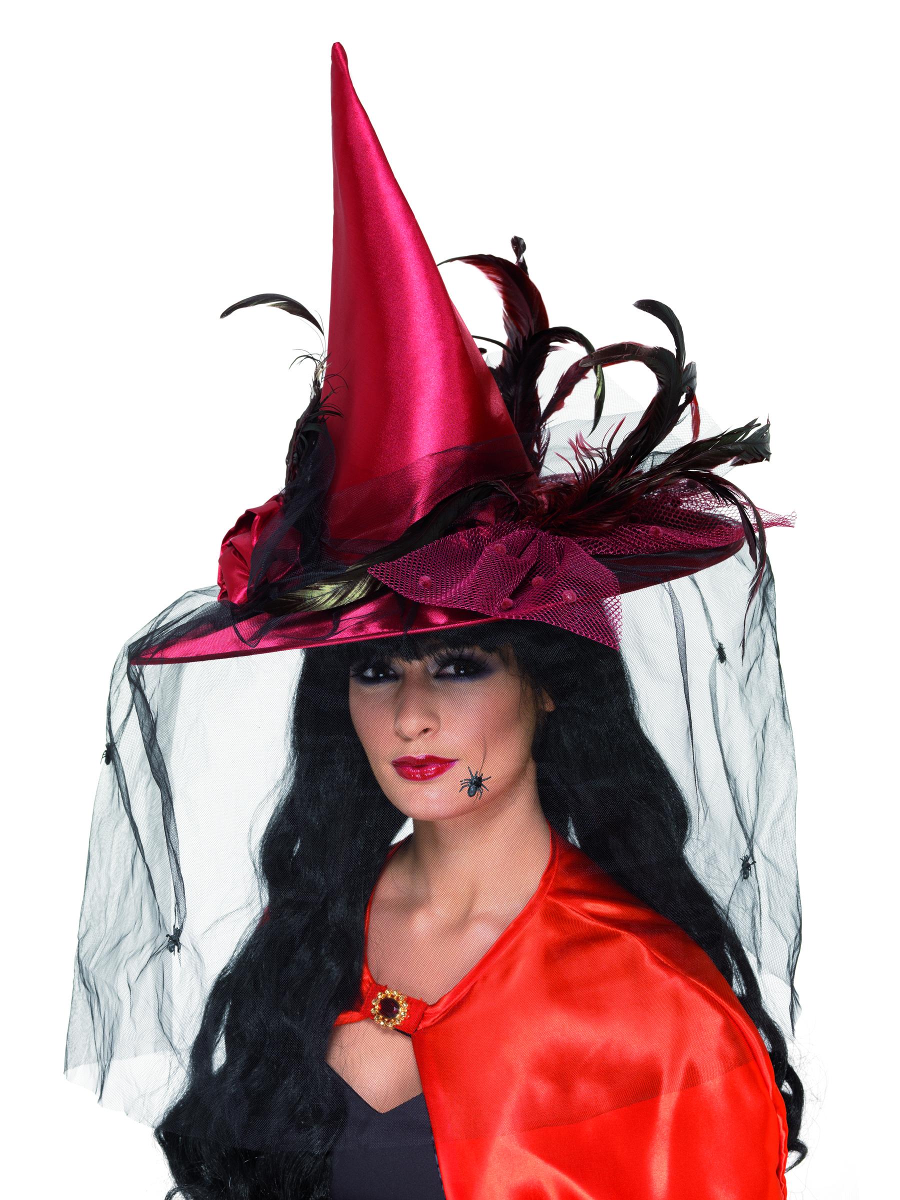 Sombrero de bruja de lujo para mujer ideal para Halloween  Sombreros ... 9dcdcd868bb