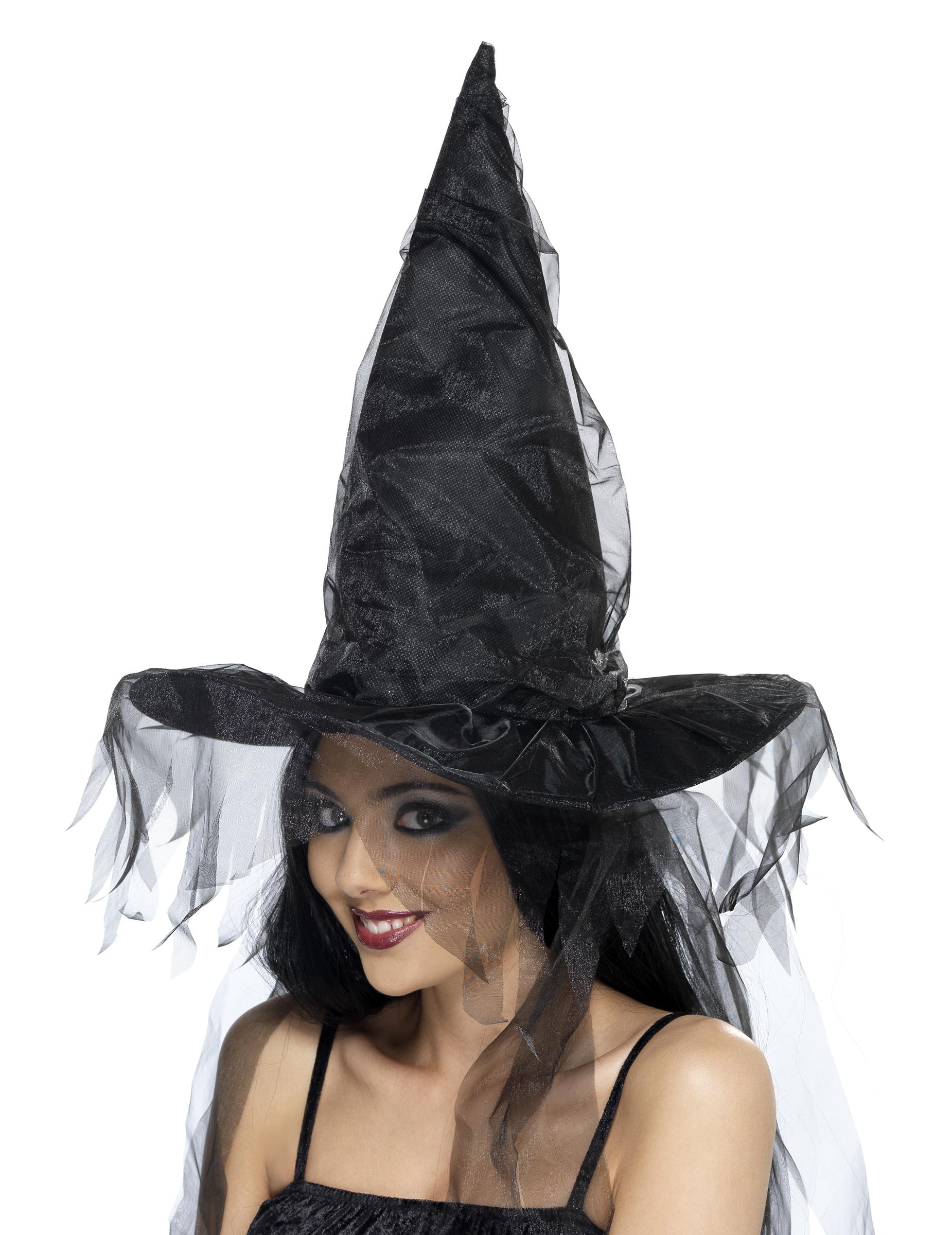 Sombrero negro de bruja para mujer ideal para Halloween d22ae8192ce