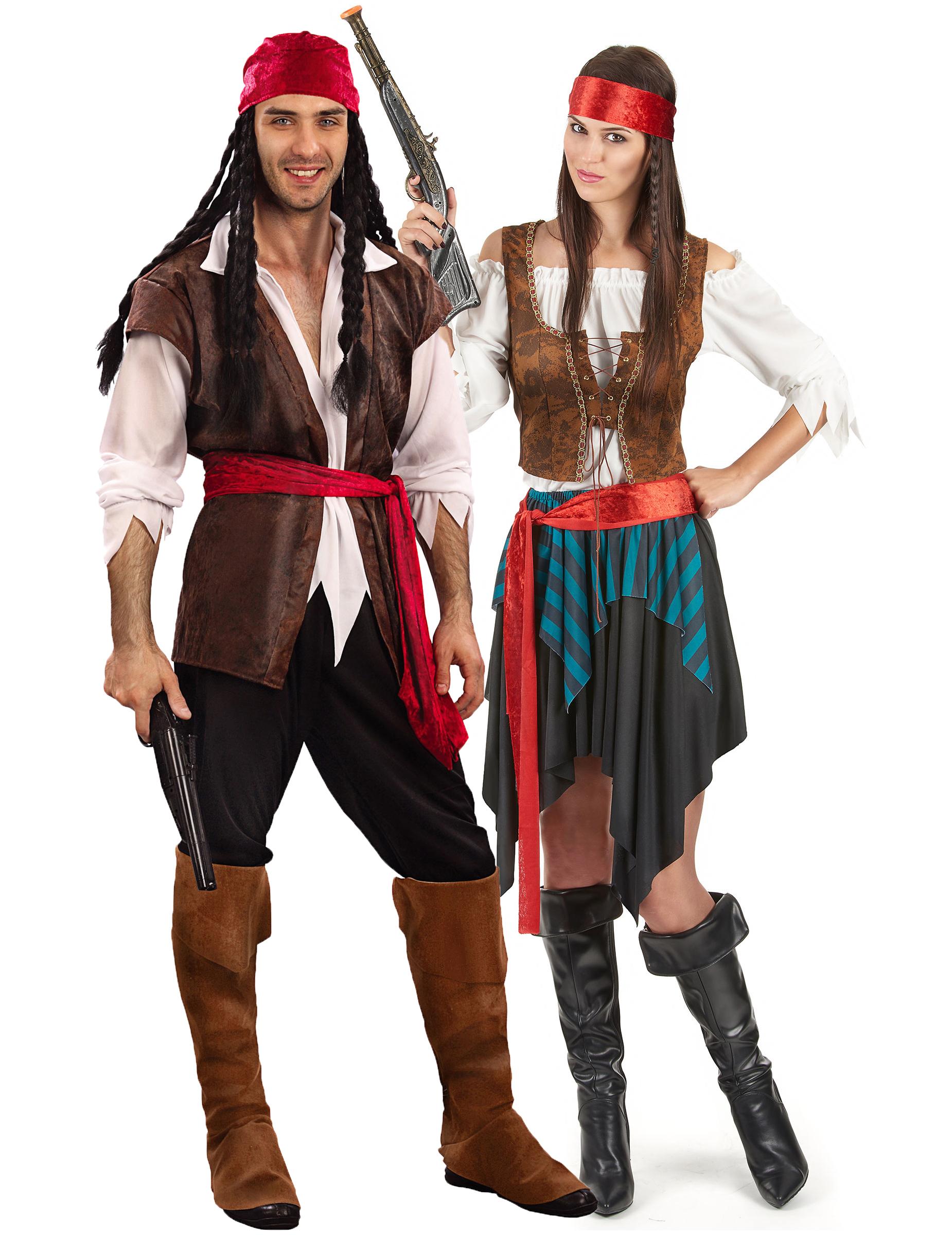 8f54159f7 Disfraz de pareja de pirata de lujo