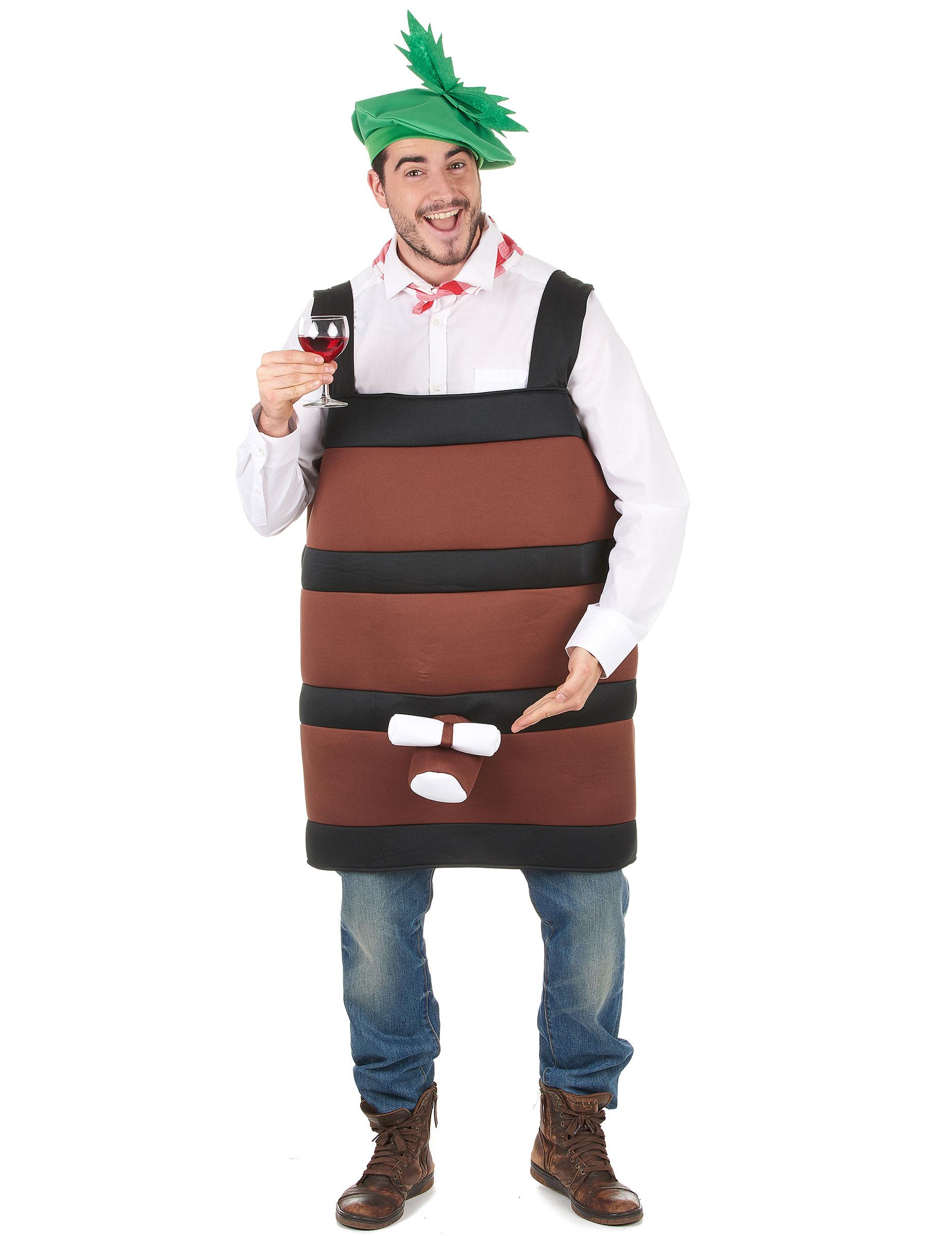 Disfraz de barril de vino para hombre - Barril de vino ...