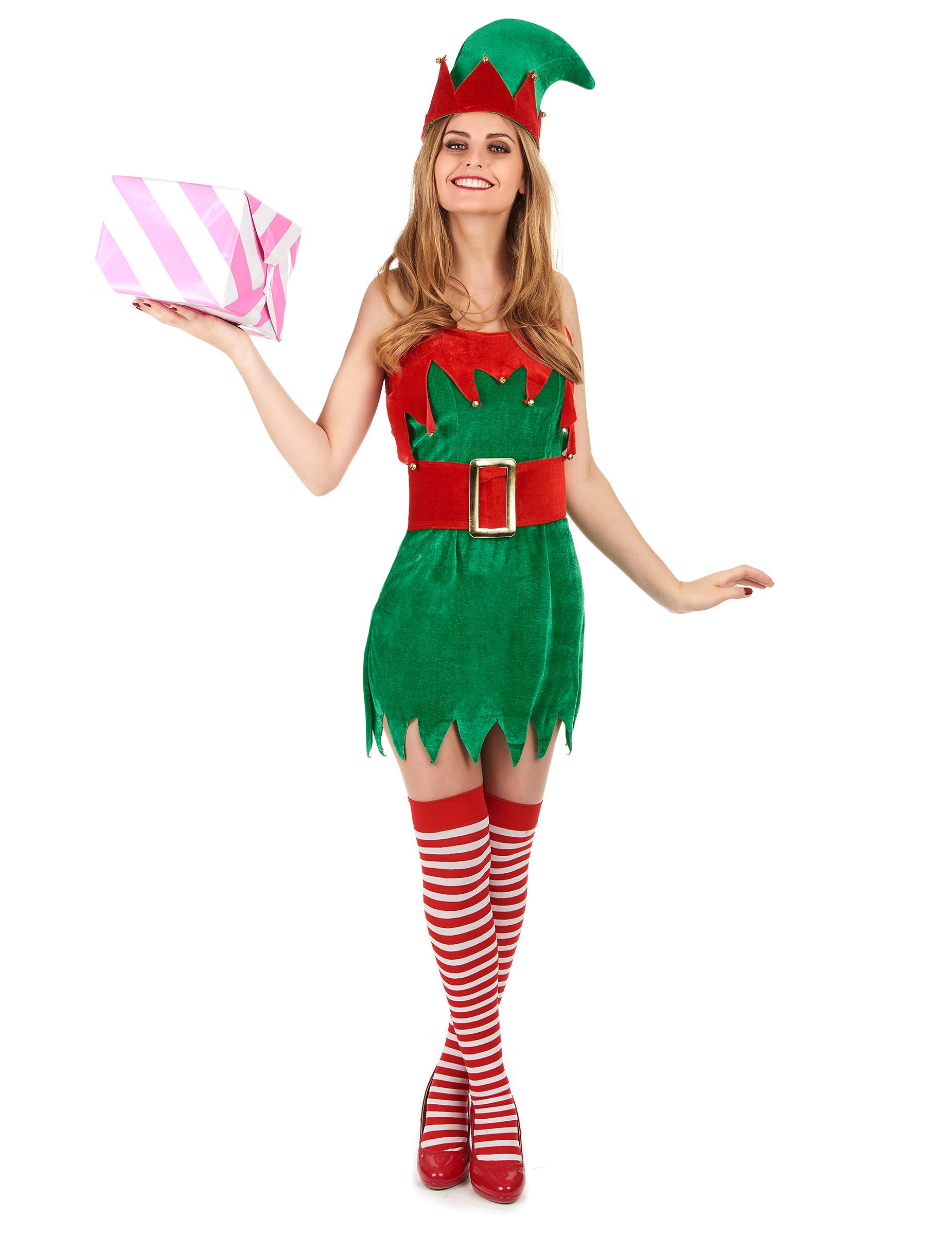 Disfraz de duende de navidad para mujer disfraces adultos - Disfraces para navidad ...