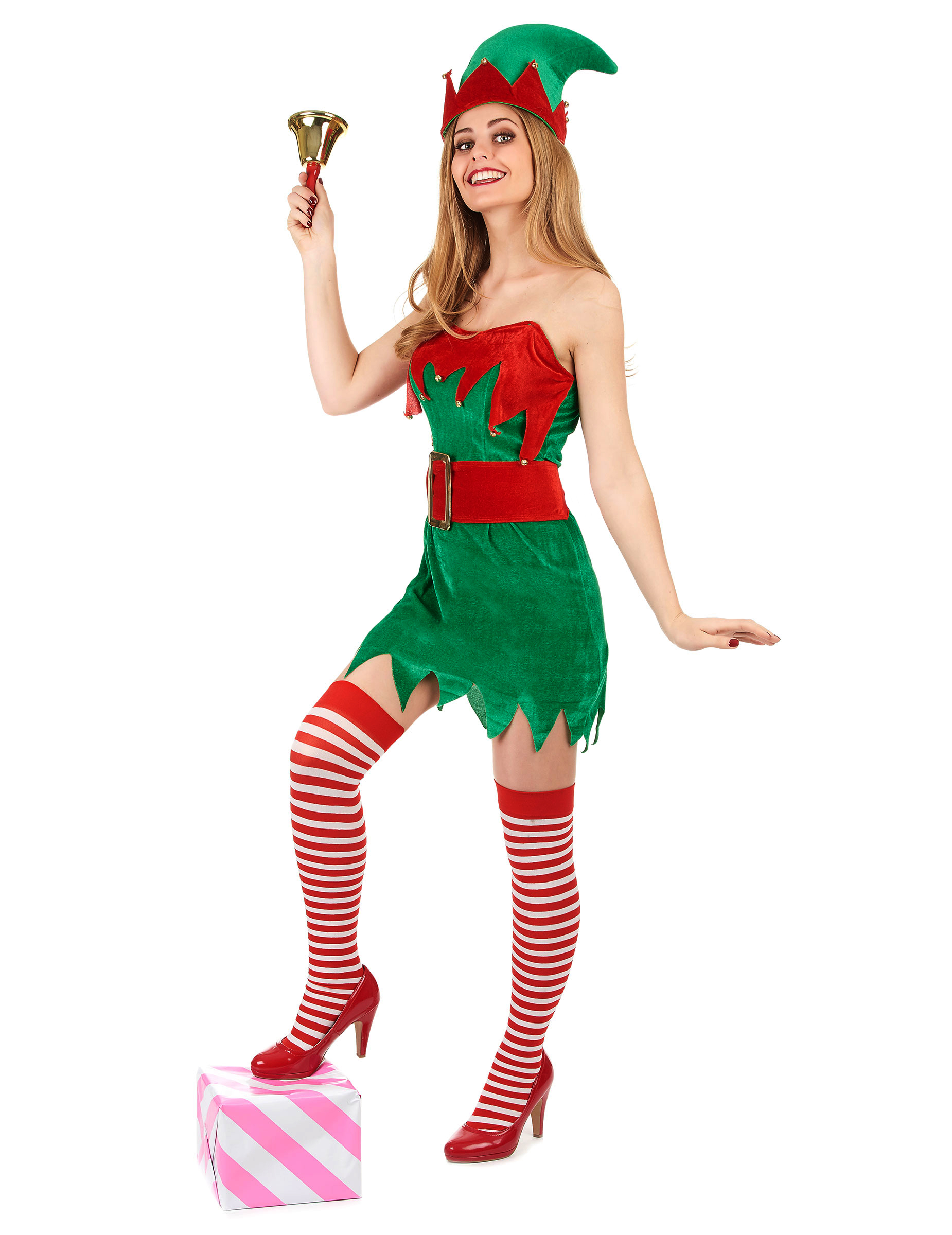 Disfraz de duende de navidad para mujer - Disfraces duendes navidenos ...