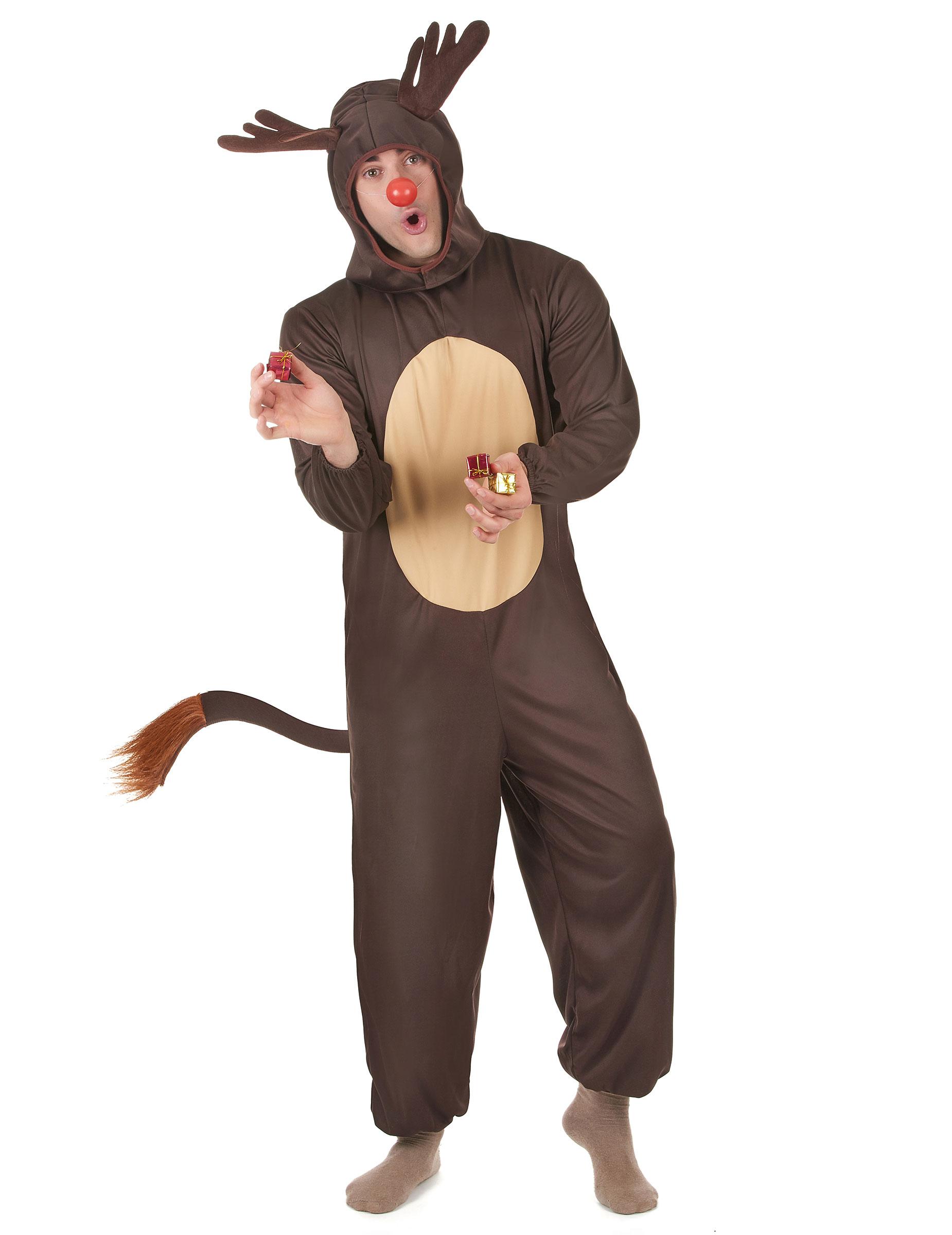 Disfraz De Reno De Navidad Para Hombre Disfraces Adultosy - Disfraz-reno