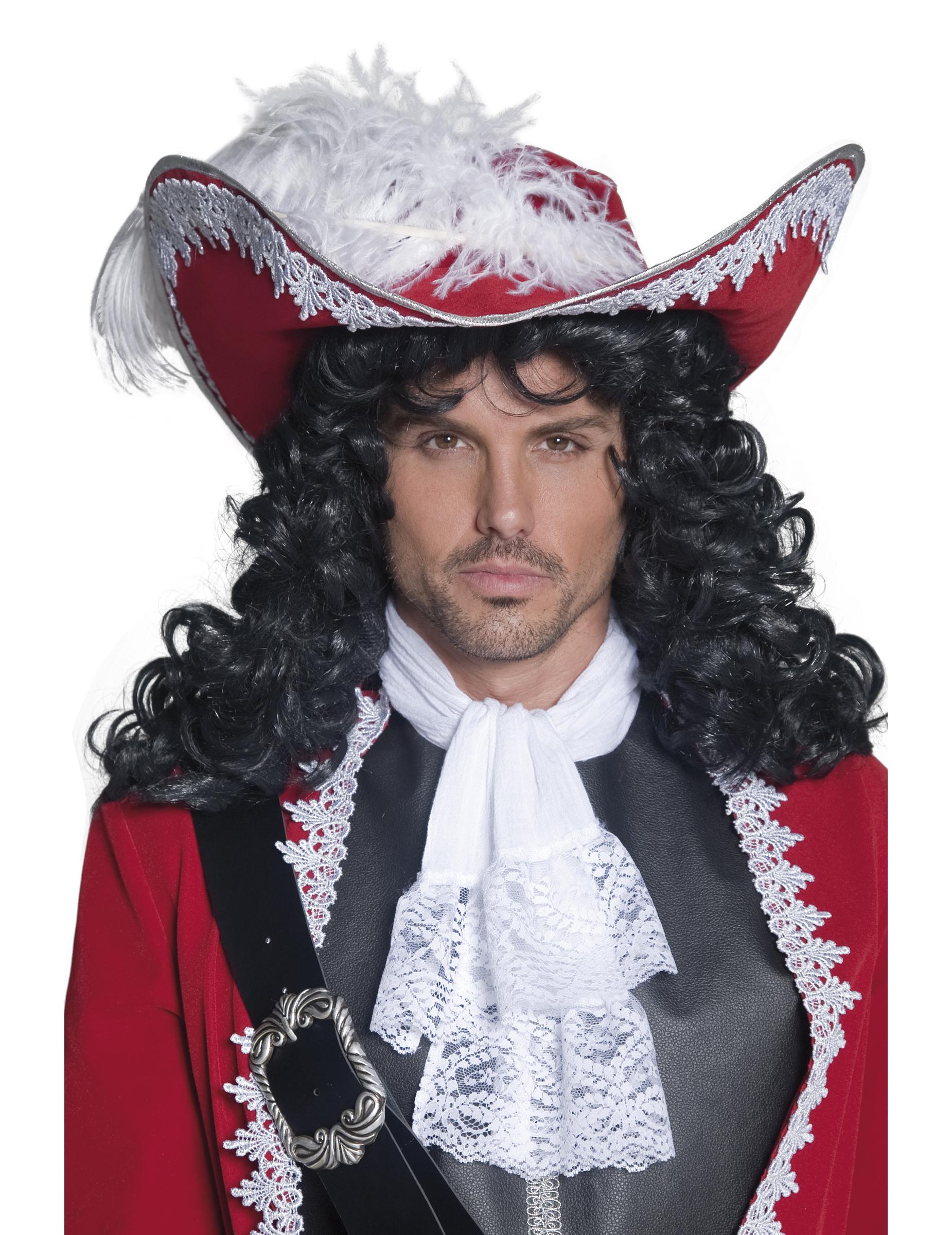 be7a35ec981f1 Sombrero rojo de pirata para adulto  Sombreros