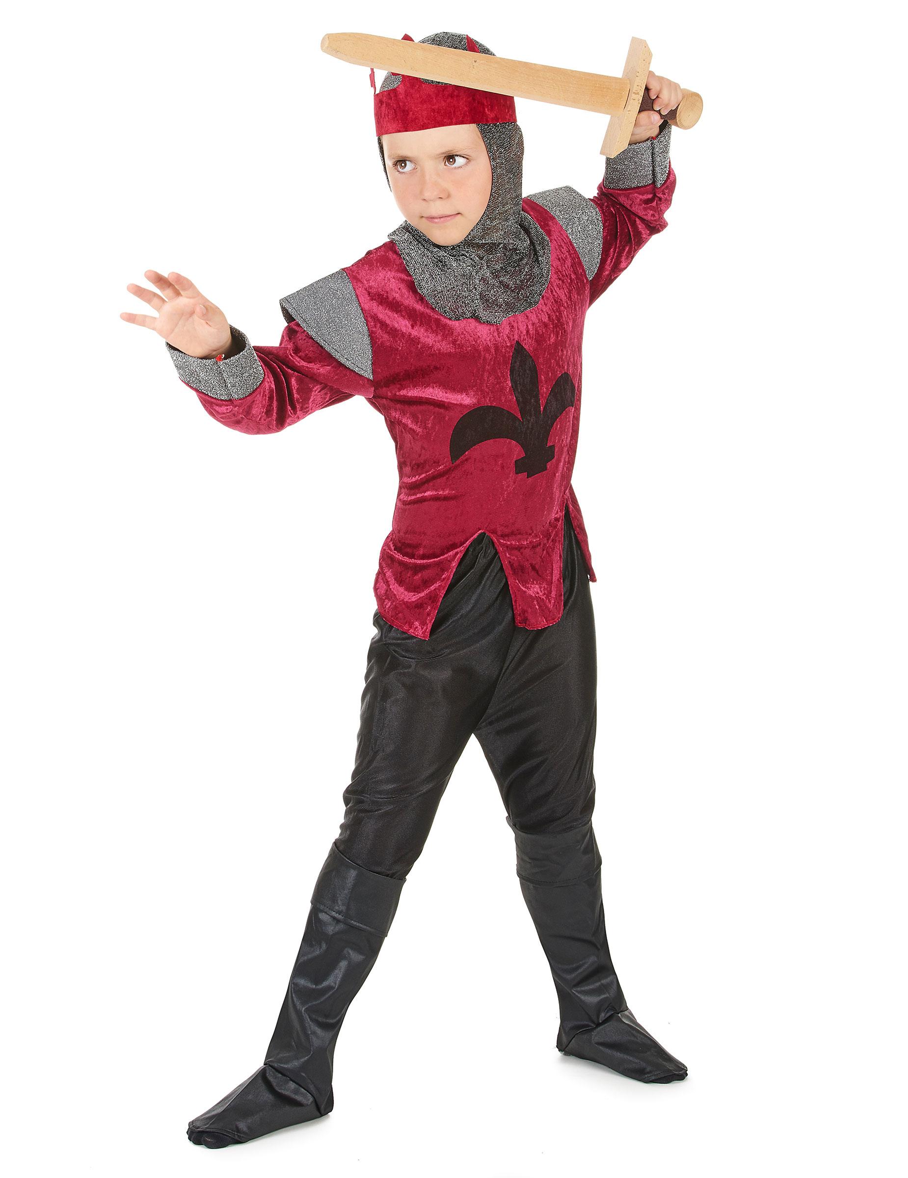 9c31a4a7f Disfraz de rey caballero medieval para niño