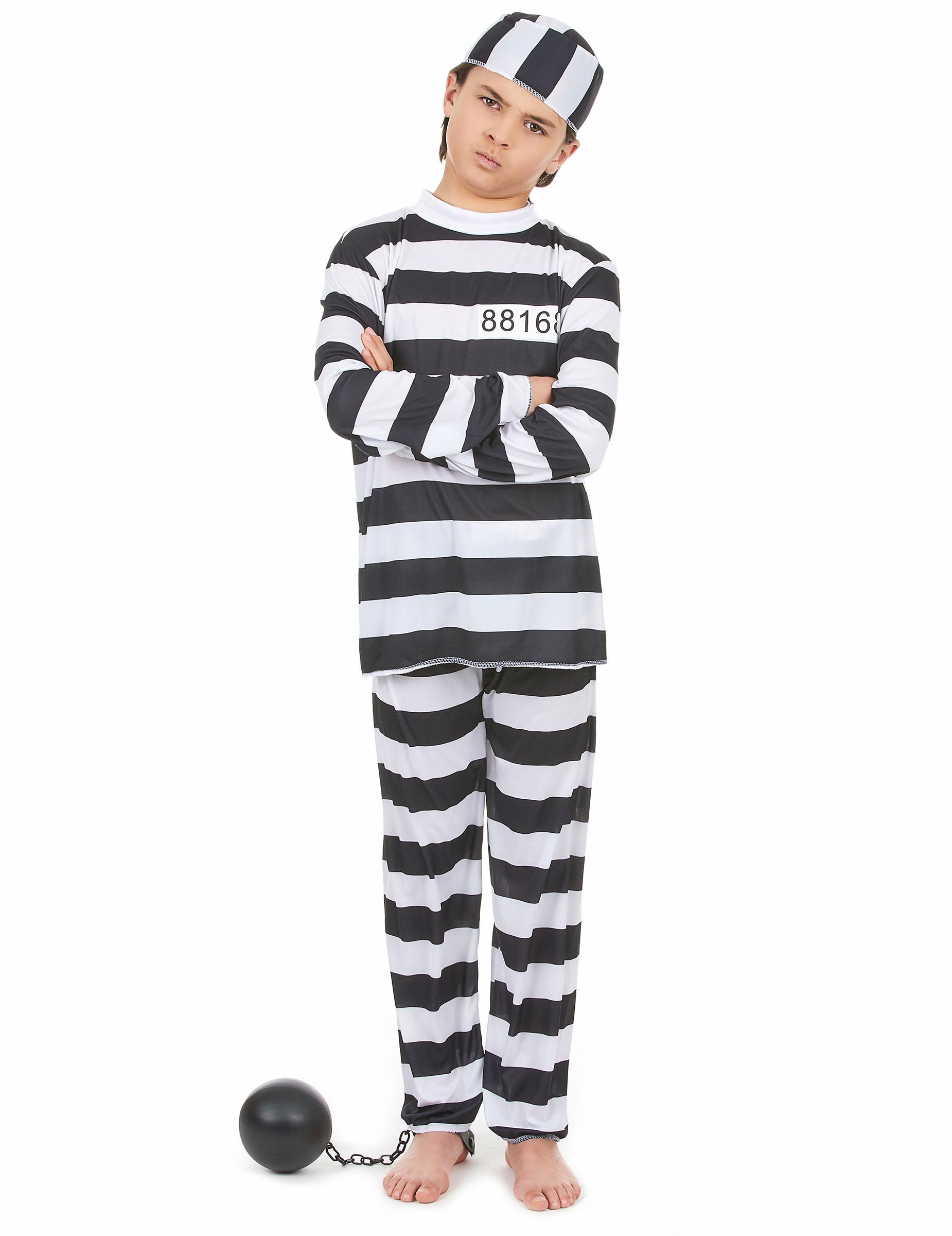 Disfraz de preso para niño o niña: Disfraces niños,y disfraces originales baratos - Vegaoo