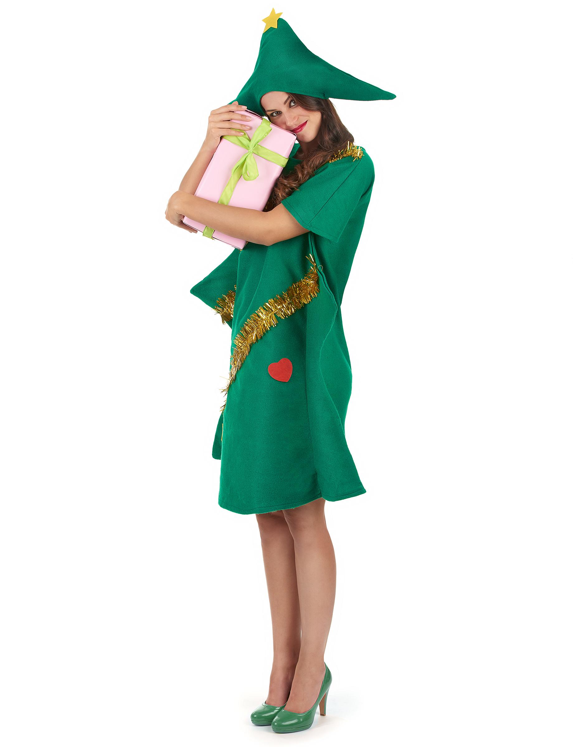Disfraz de rbol de navidad para mujer - Disfraz de navidad ...