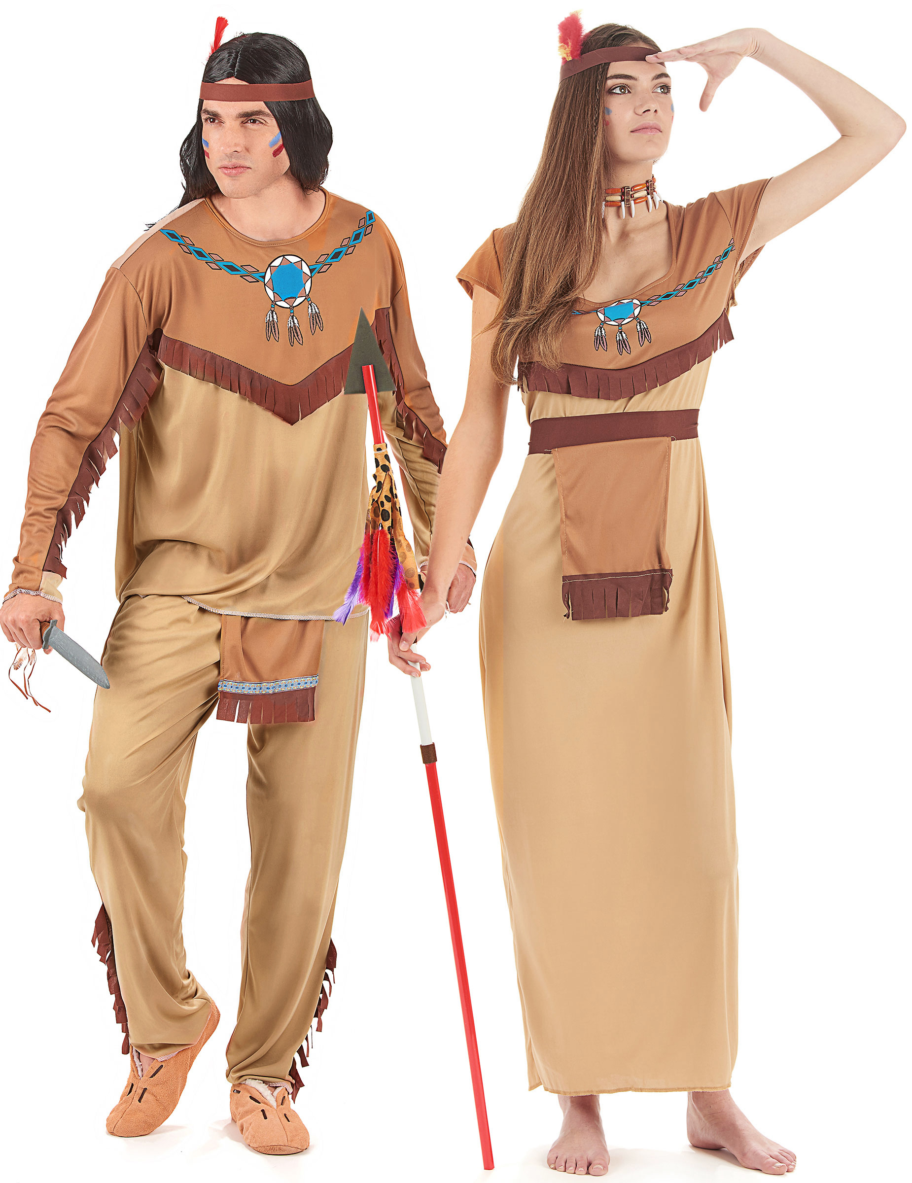 Disfraz de pareja de indios para adultos  Disfraces parejas d1daae61d4d