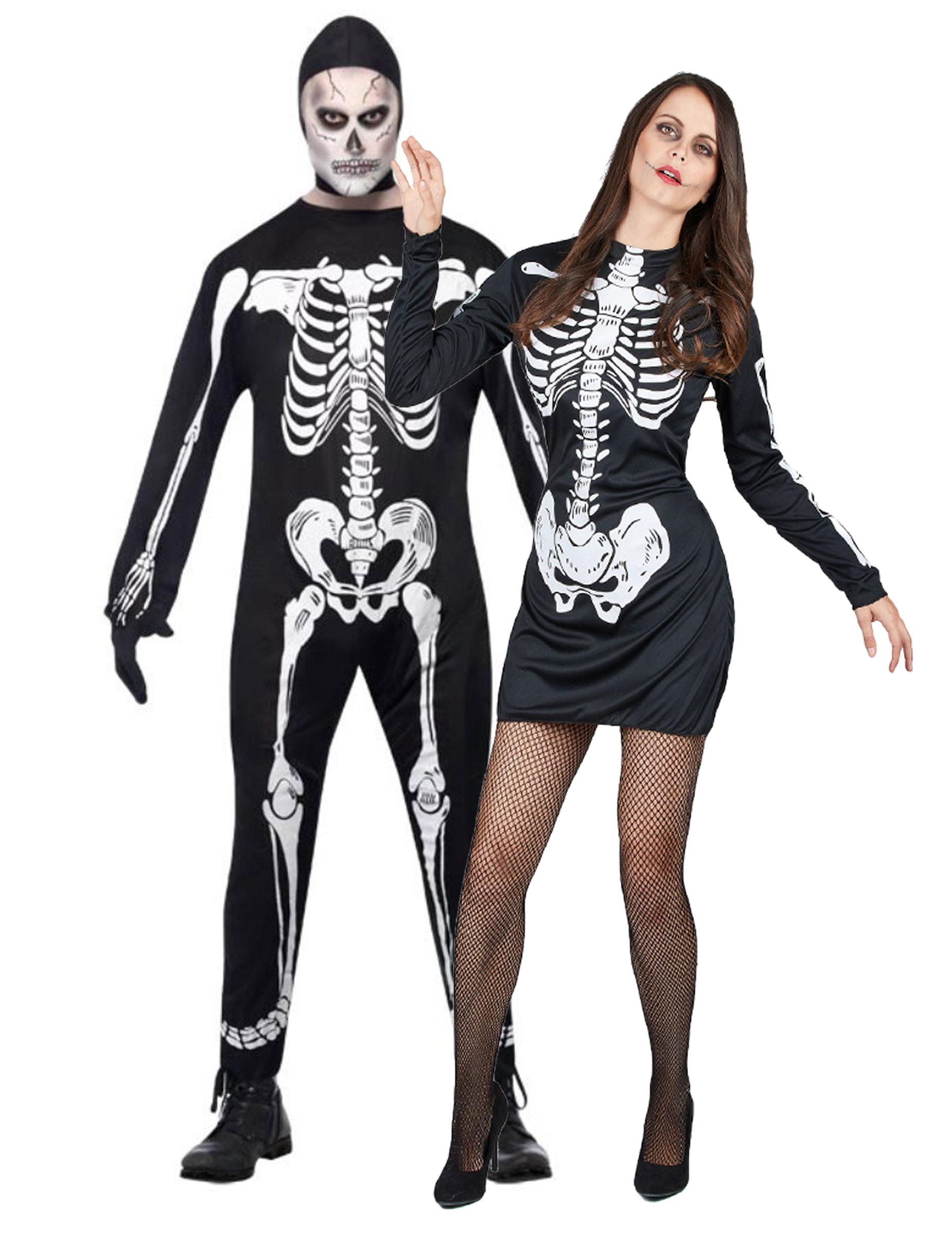 Disfraz de pareja de esqueletos ideal para Halloween Disfraces