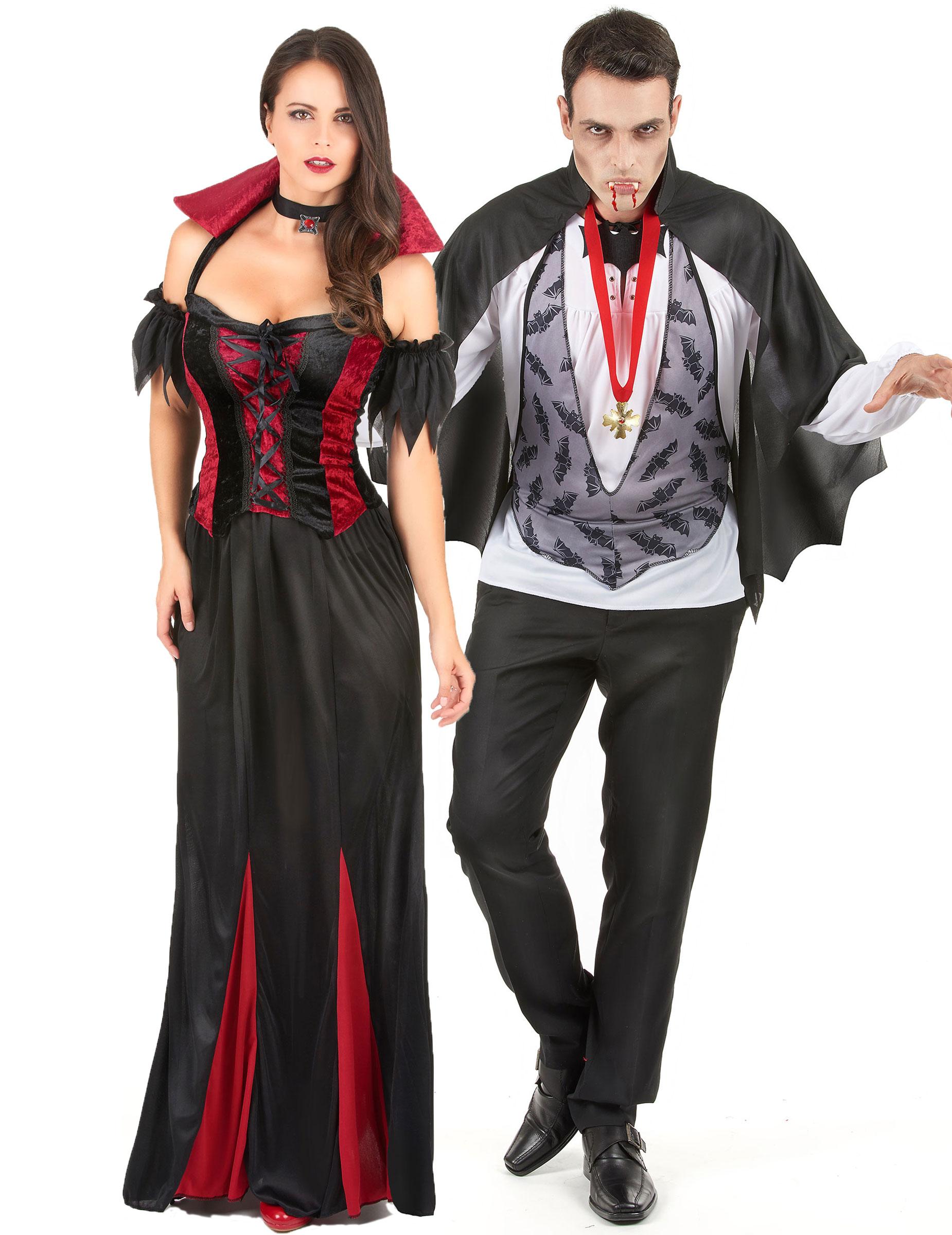 Disfraz De Pareja De Vampiros Ideal Para Halloween Disfraces - Trajes-de-jalowin