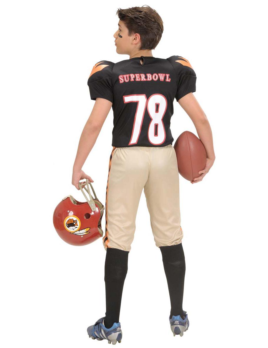 Disfraz de jugador de fútbol americano para niño  Disfraces niños f000523bae5a8