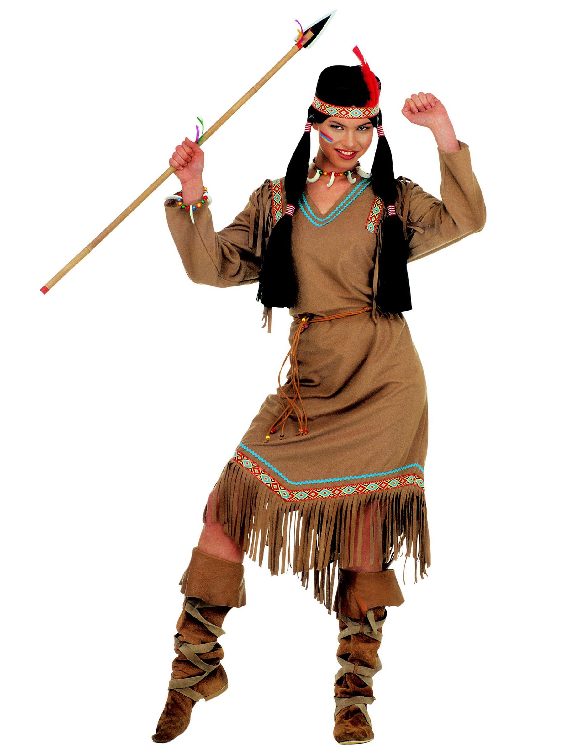 Disfraz de india largo para mujer: Disfraces adultos,y disfr
