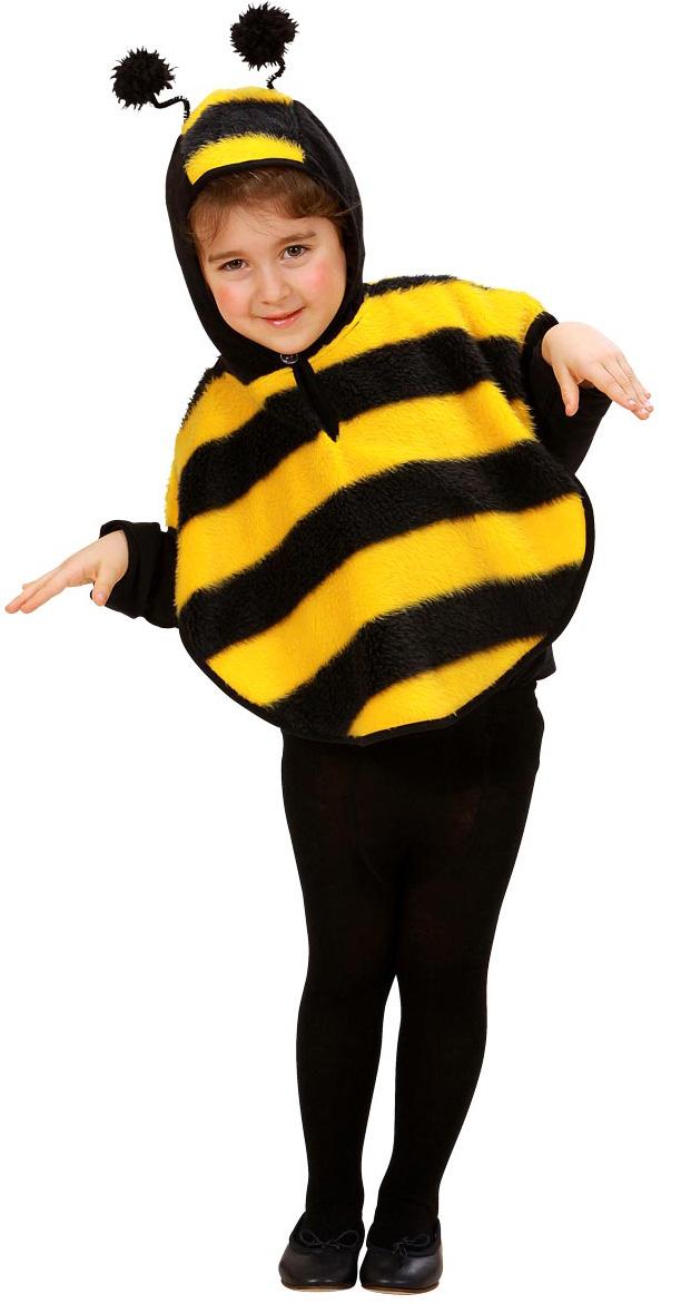 disfraz de abeja en forma de poncho para nia