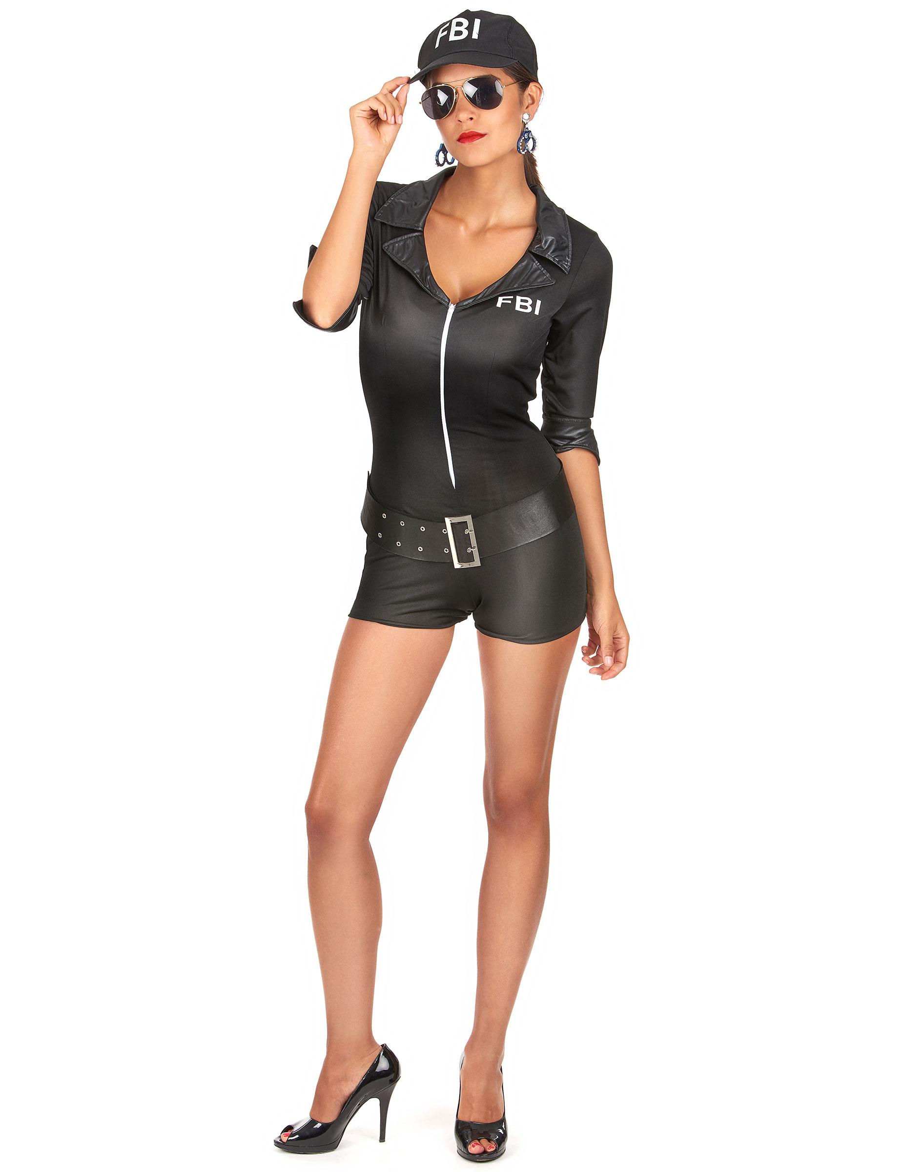 disfraz mujer fbi