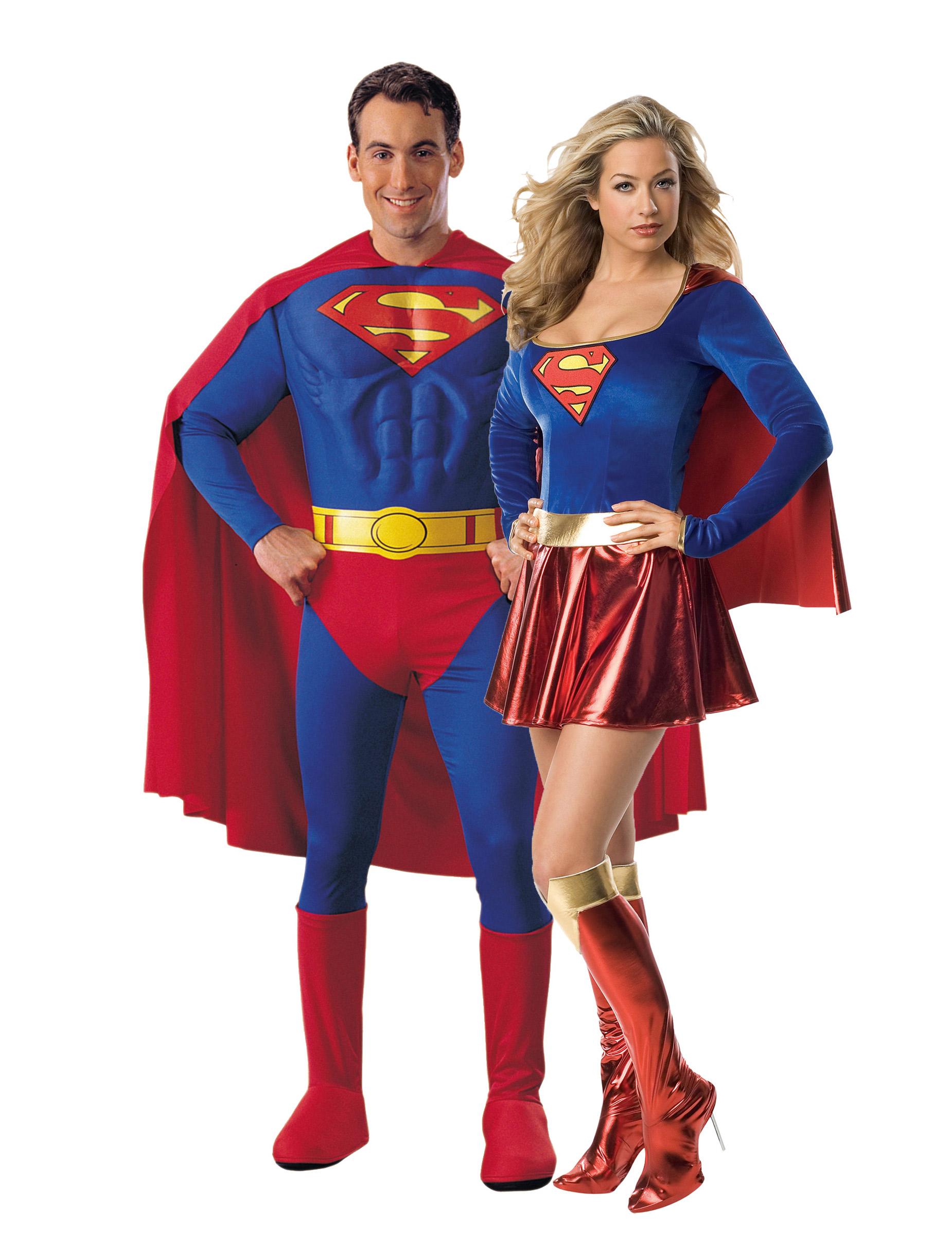 Disfraz Superman Mujer Disfraz de Pareja de Superman