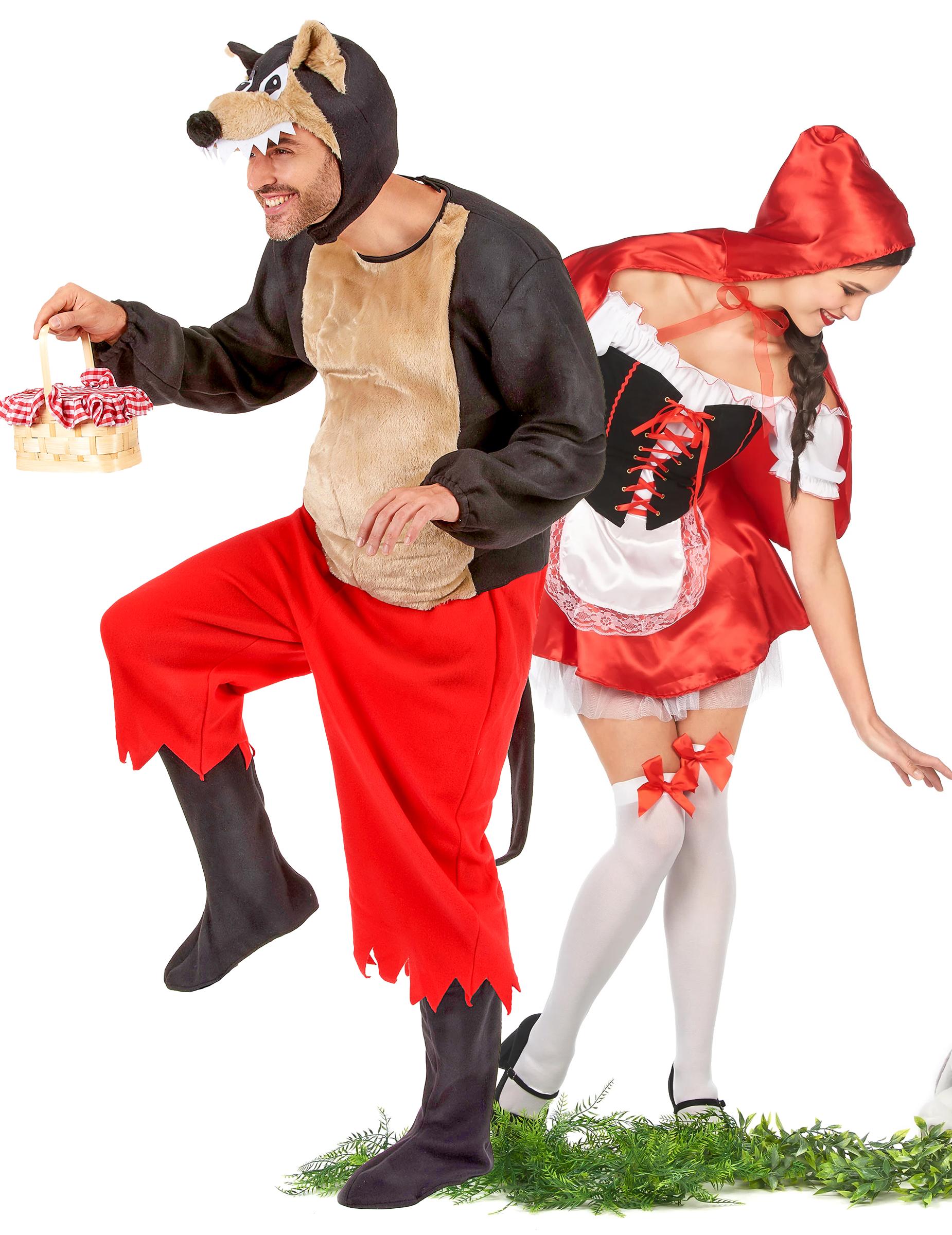 Disfraces Para Halloween De Caperucita Roja.Disfraz De Pareja De Caperucita Roja Y Lobo Feroz