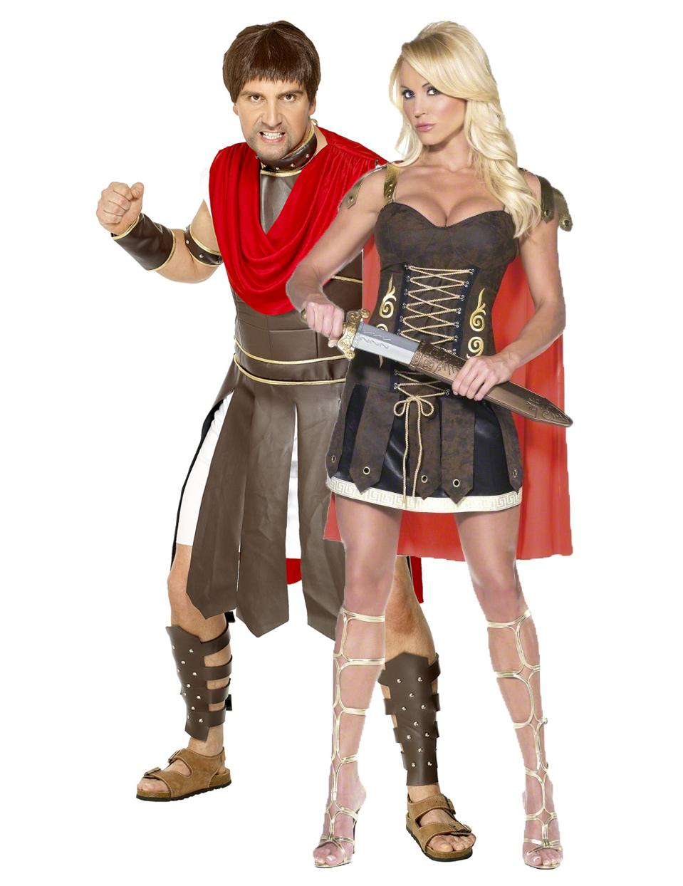 9c1b24ca0 Disfraz de pareja de gladiadores romanos
