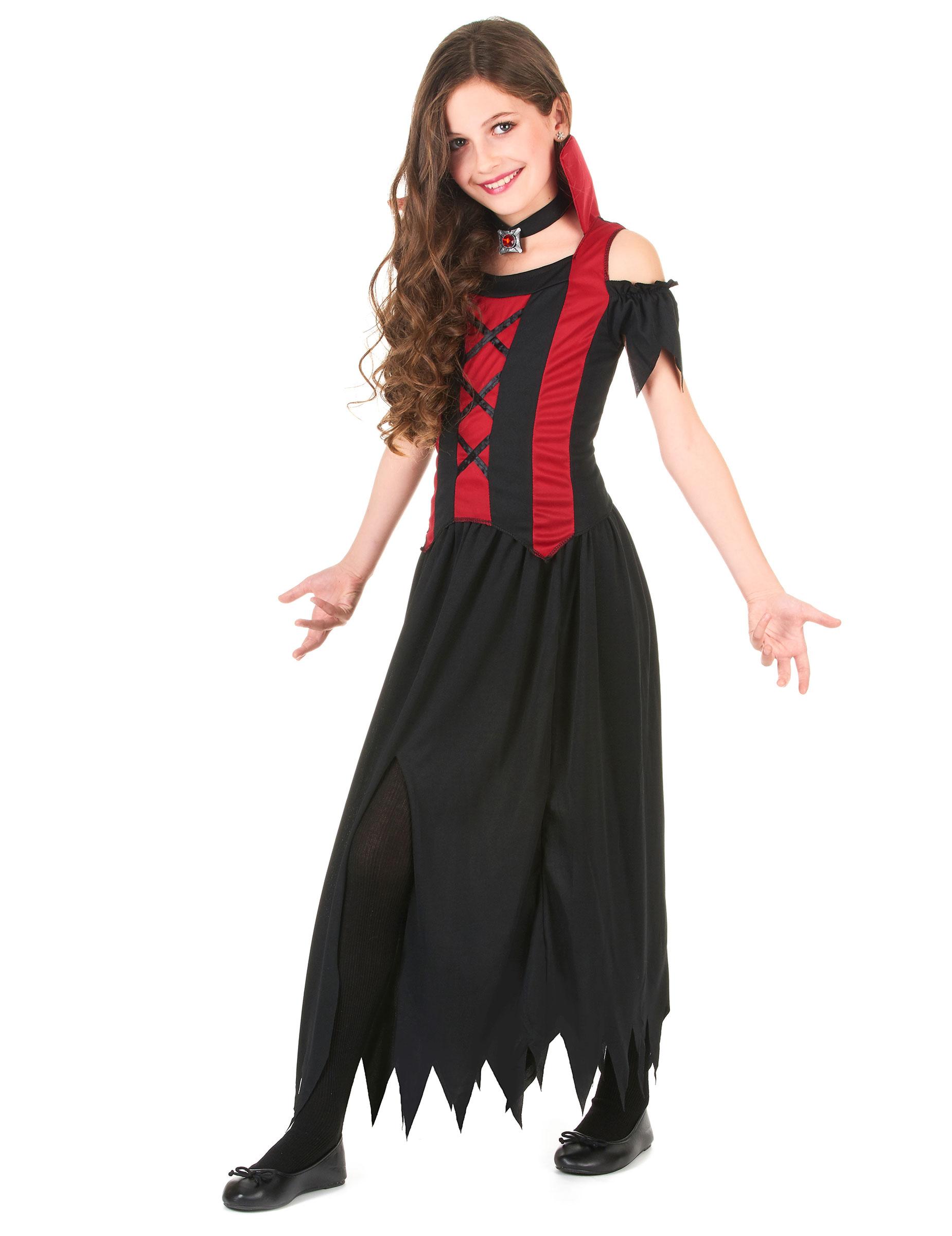disfraz de vampiresa para nia ideal para halloween