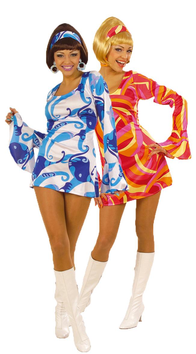aad51b312 Disfraces de pareja estilo disco de color azul y rojo para mujeres