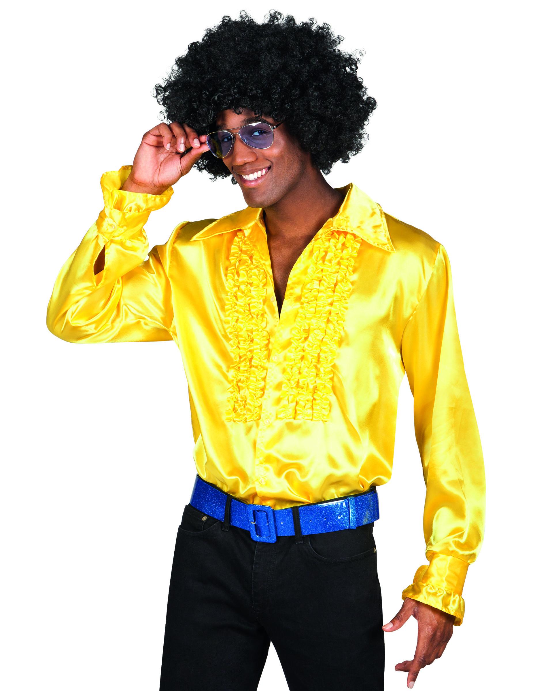1c3f03964 Camisa amarilla disco hombre  Disfraces adultos