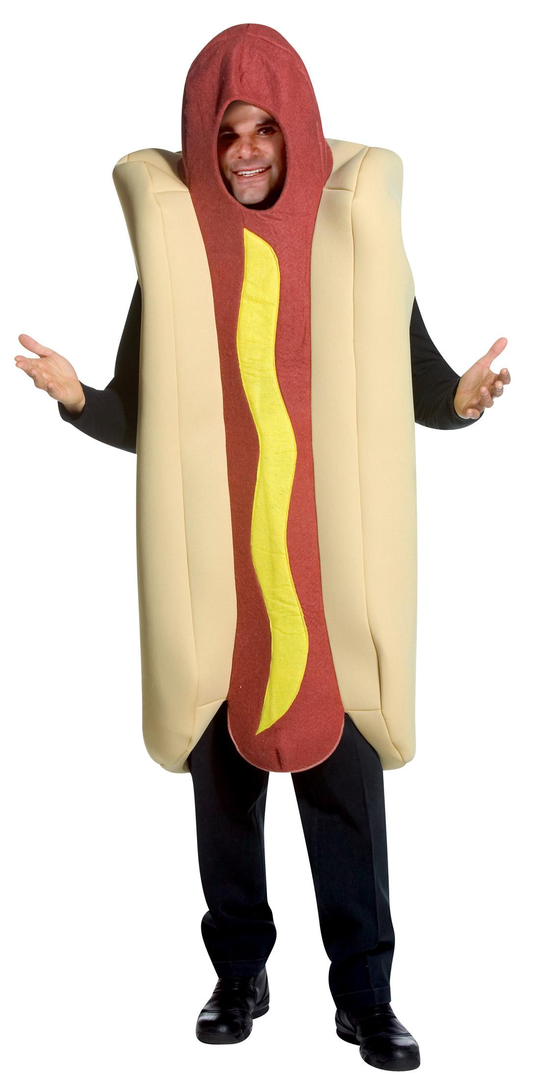 Disfraz de Hotdog vendedor adulto