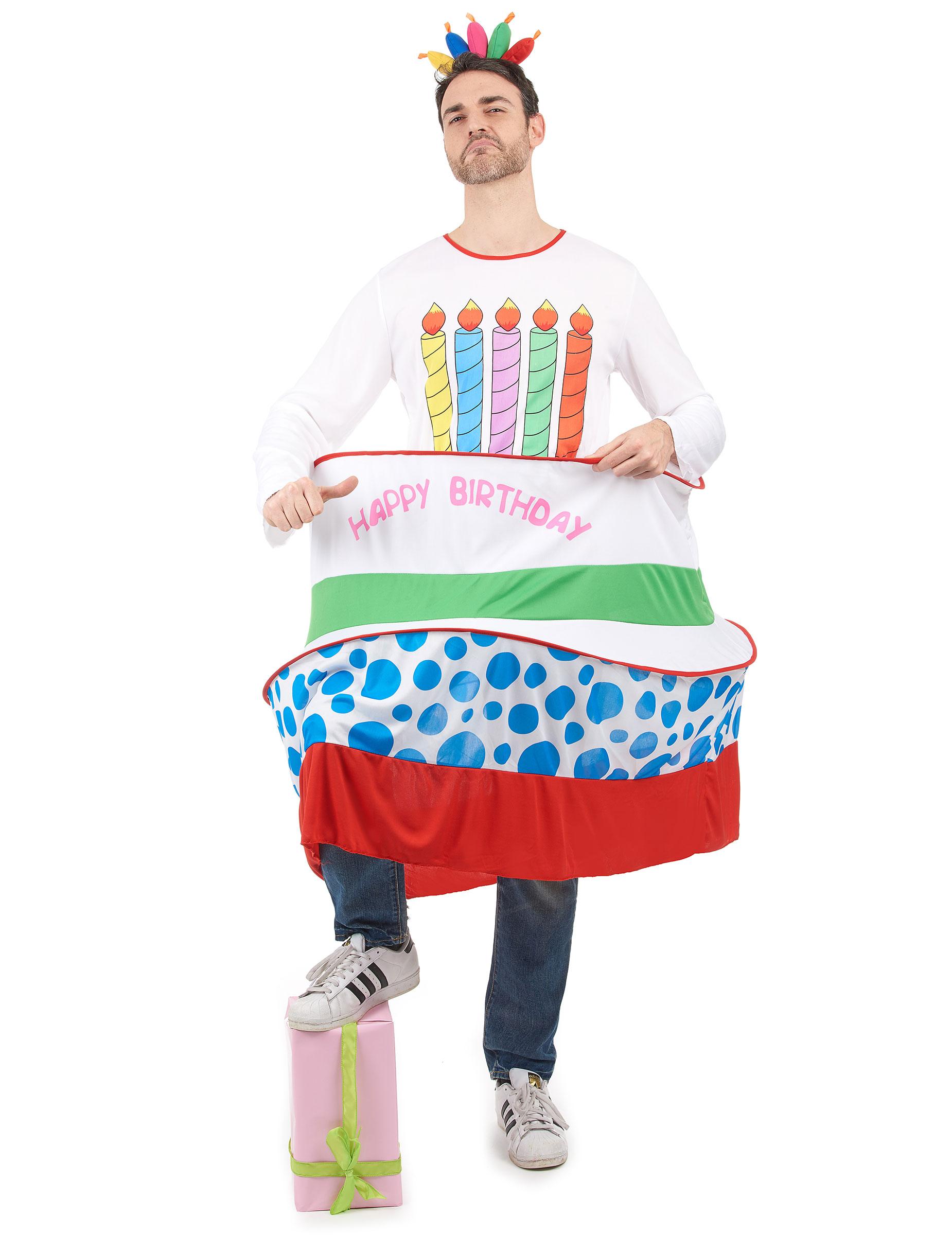 Disfraz tarta de cumpleaños hombre  Disfraces adultos 75f2ef92ed1