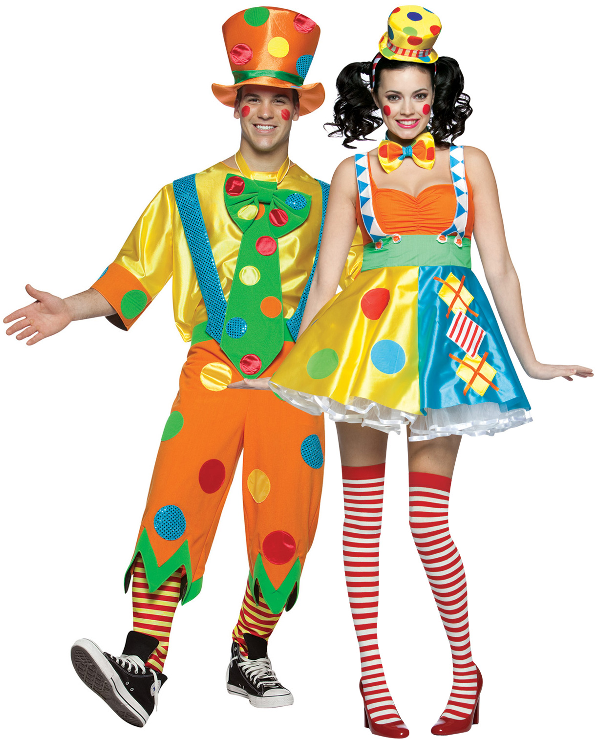 Disfraz de pareja de payasos for Disfraces parejas adultos