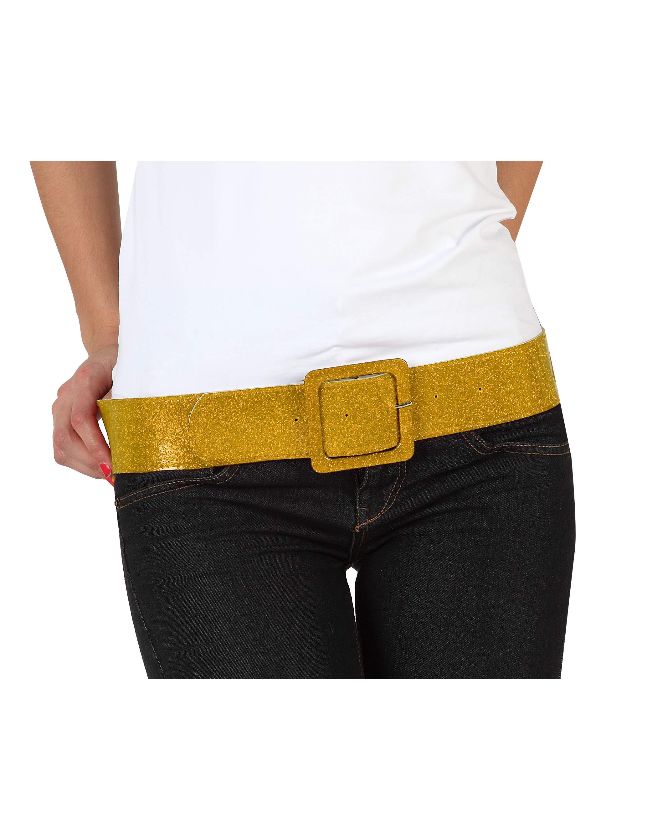 Cinturón dorado brillante para mujer  Accesorios ae27b07b3c6f