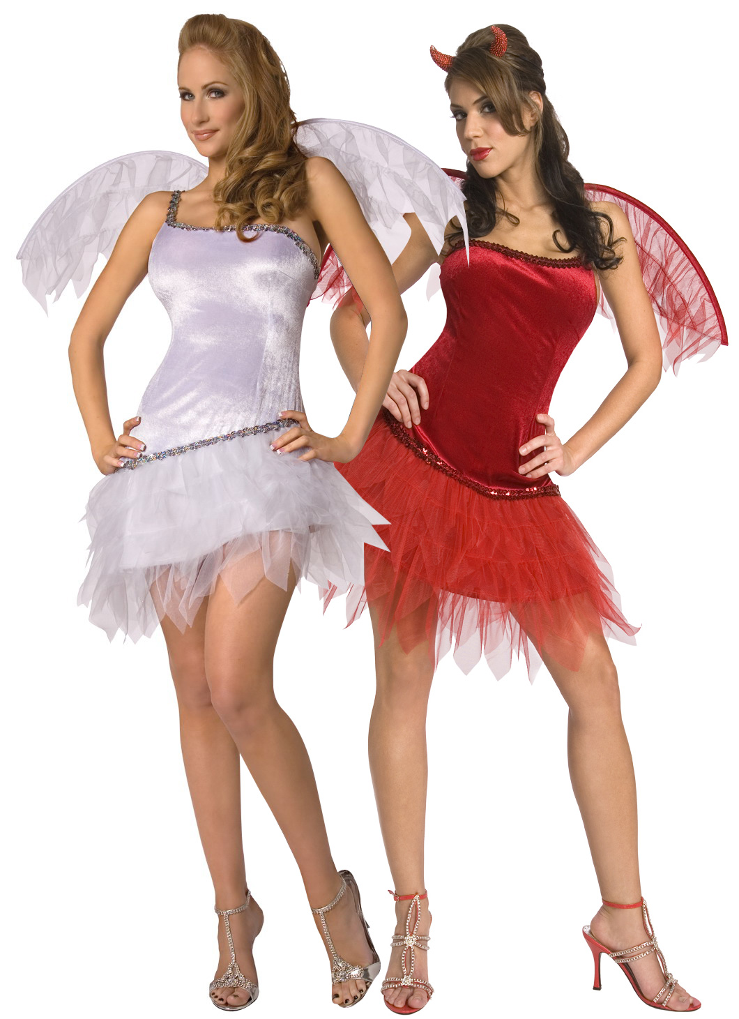 Disfraz de parejas de angel y demonio - Disfraz de angel para nino ...