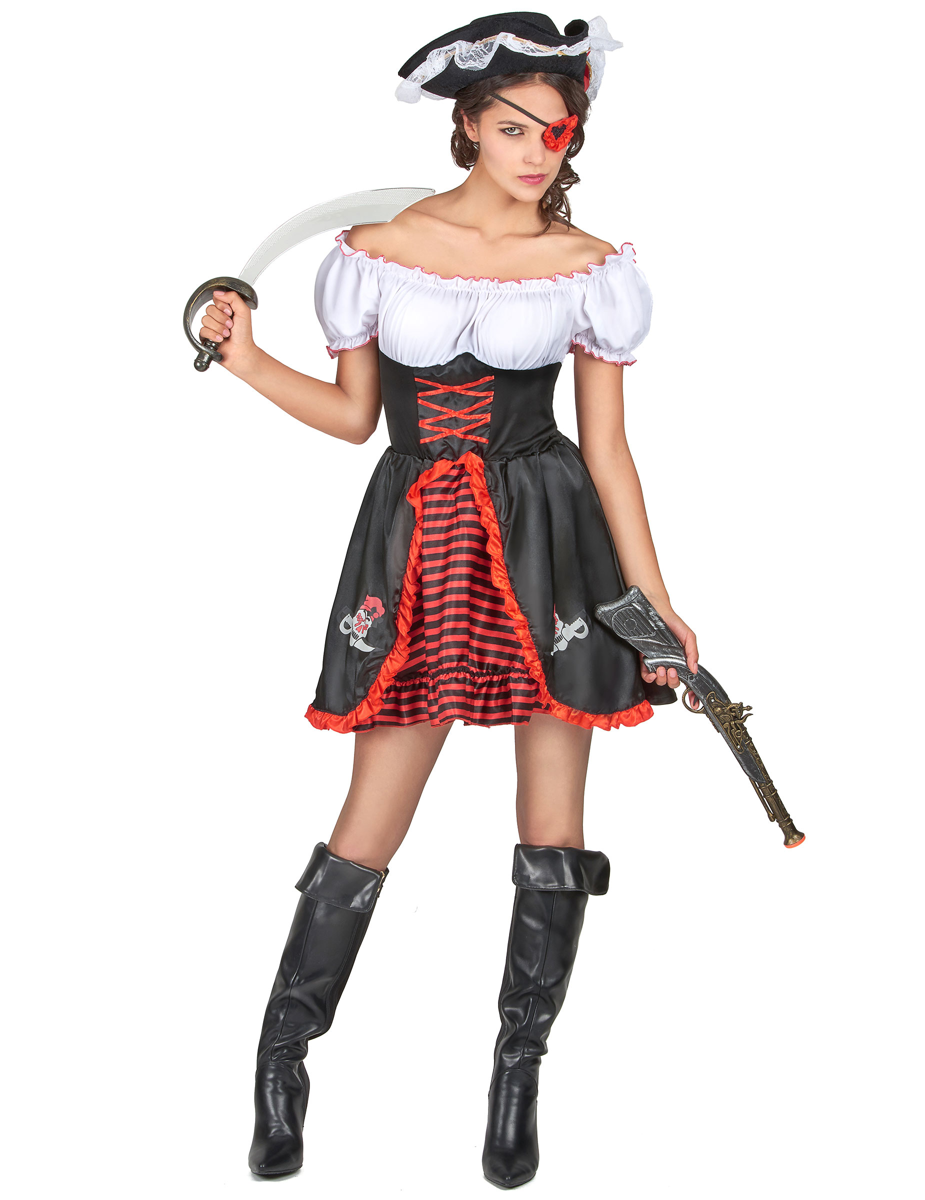 Disfraz de pirata para mujer - Disfraz de pirata para