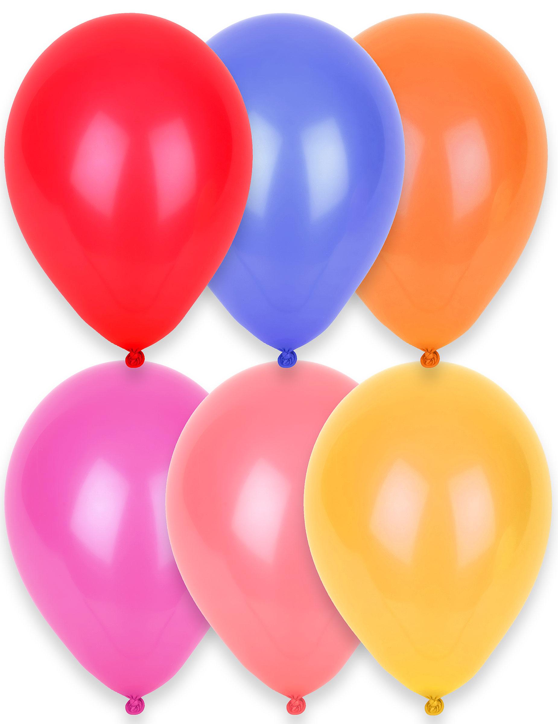 24 globos de diferentes colores 25 cm: Decoración,y disfraces ...