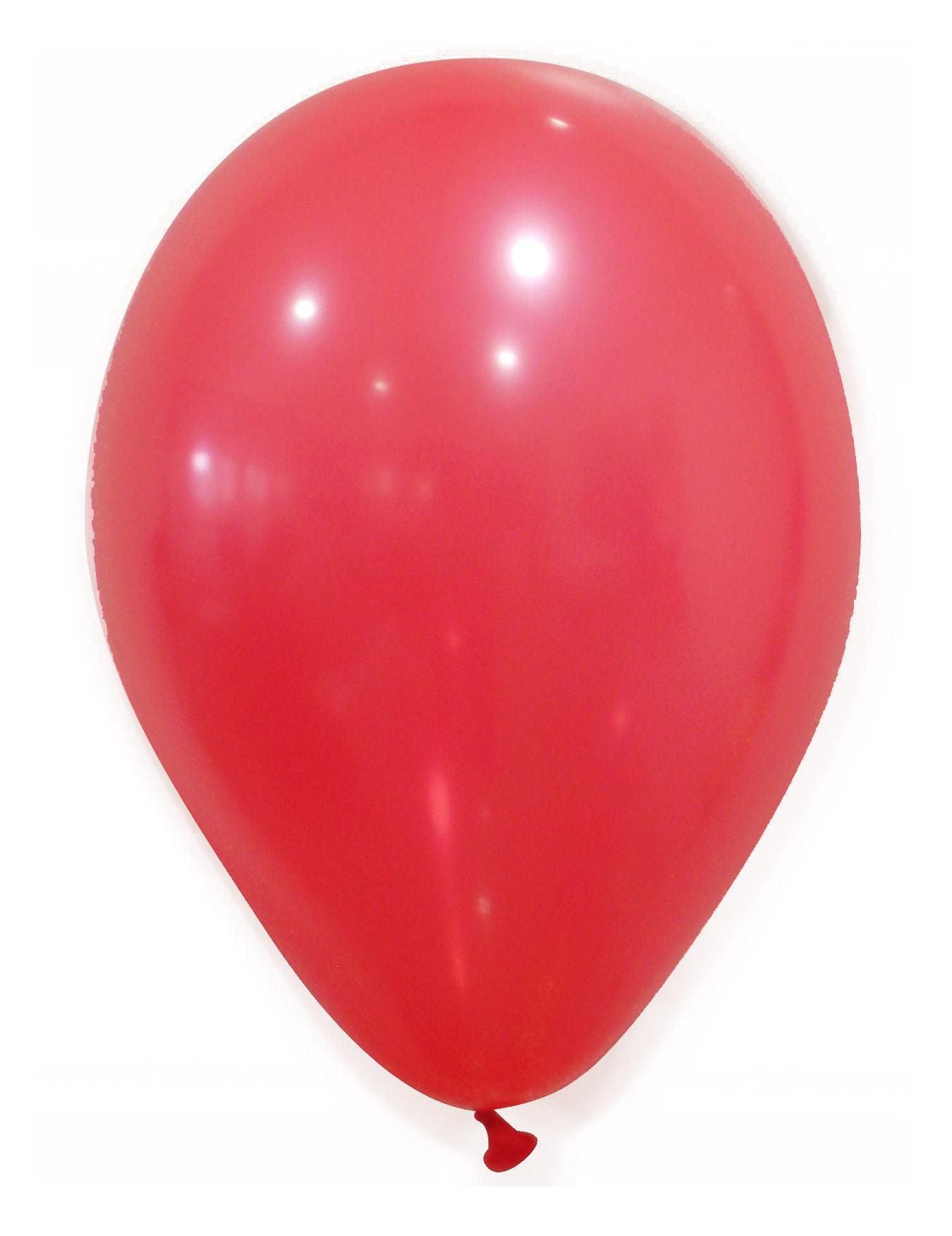 100 globos de color rojo 27 cm: Decoración,y disfraces originales ...
