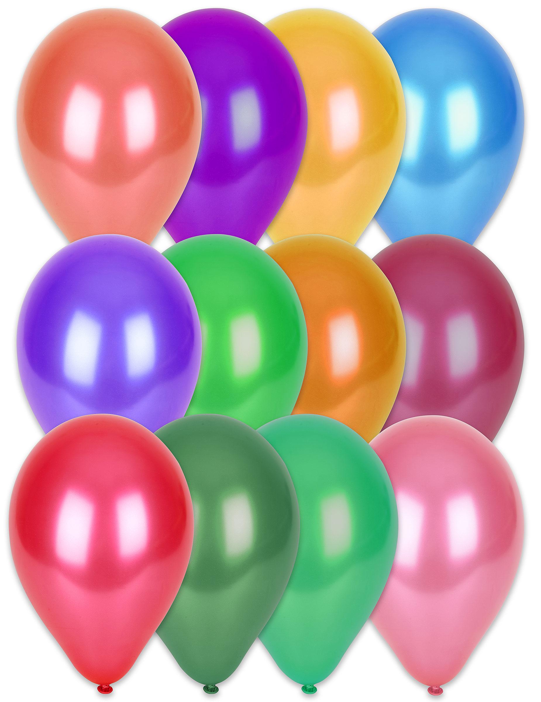 100 globos colores matalizados 29 cm Decoraciny disfraces