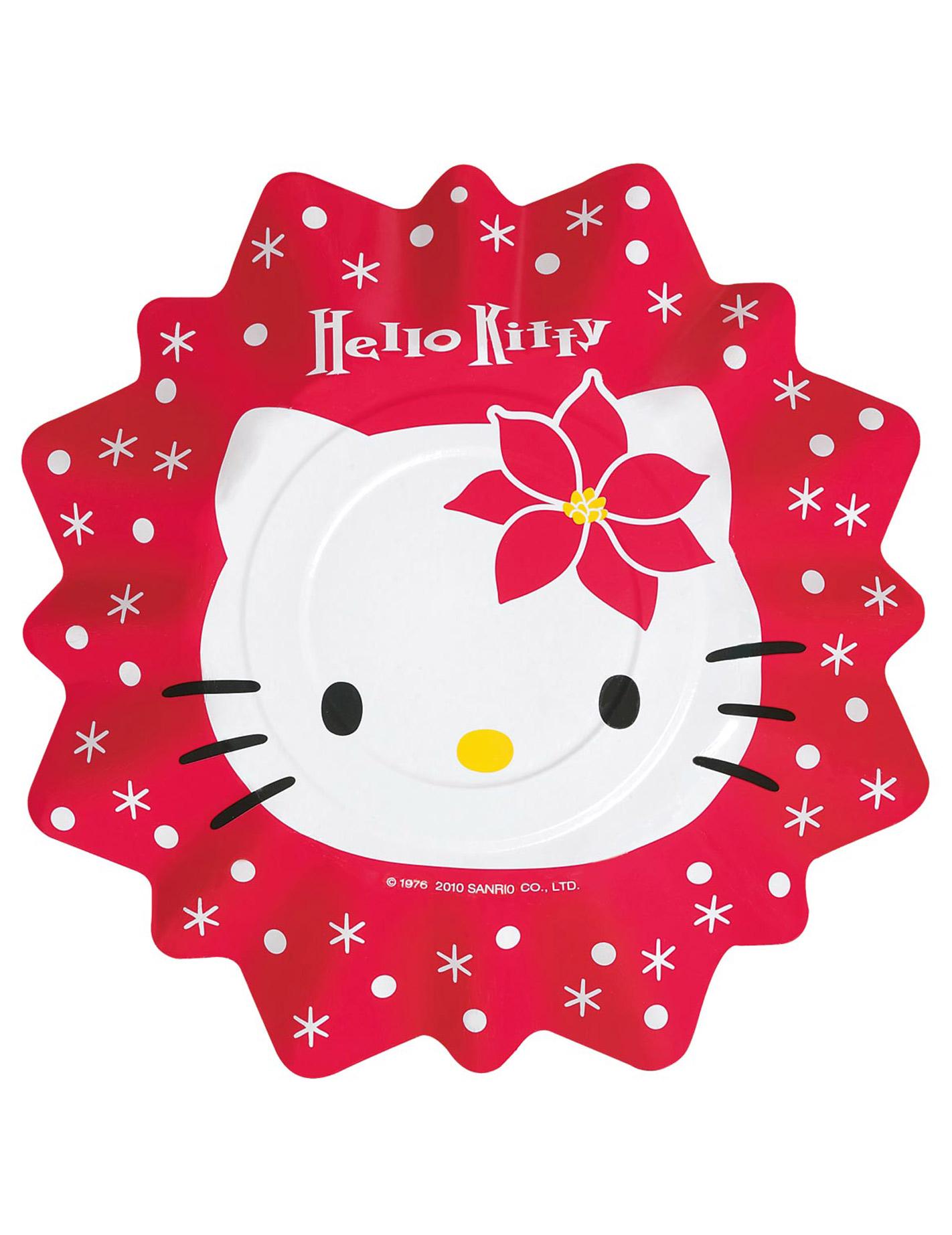 8 platos hello kitty navidad decoraci n y disfraces. Black Bedroom Furniture Sets. Home Design Ideas