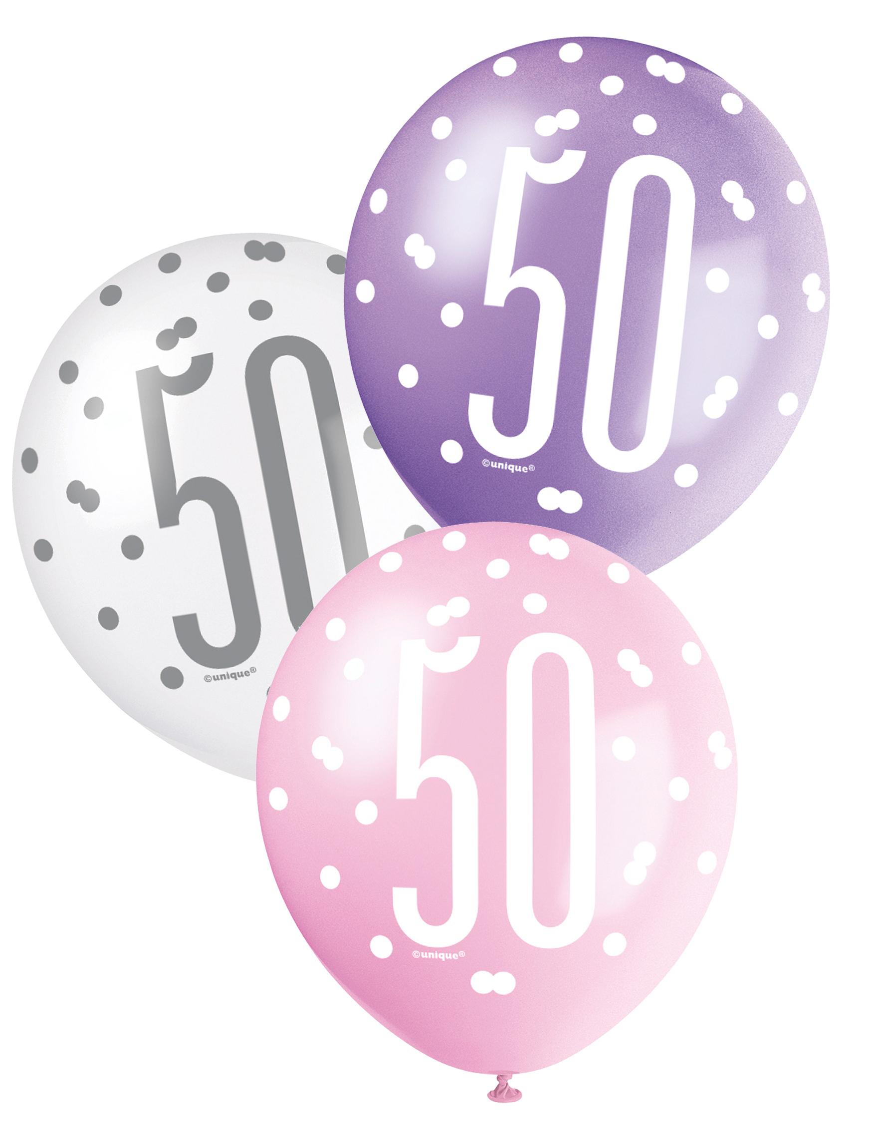Globos rosas 50 a os decoraci n y disfraces originales baratos vegaoo - Decoracion con globos 50 anos ...