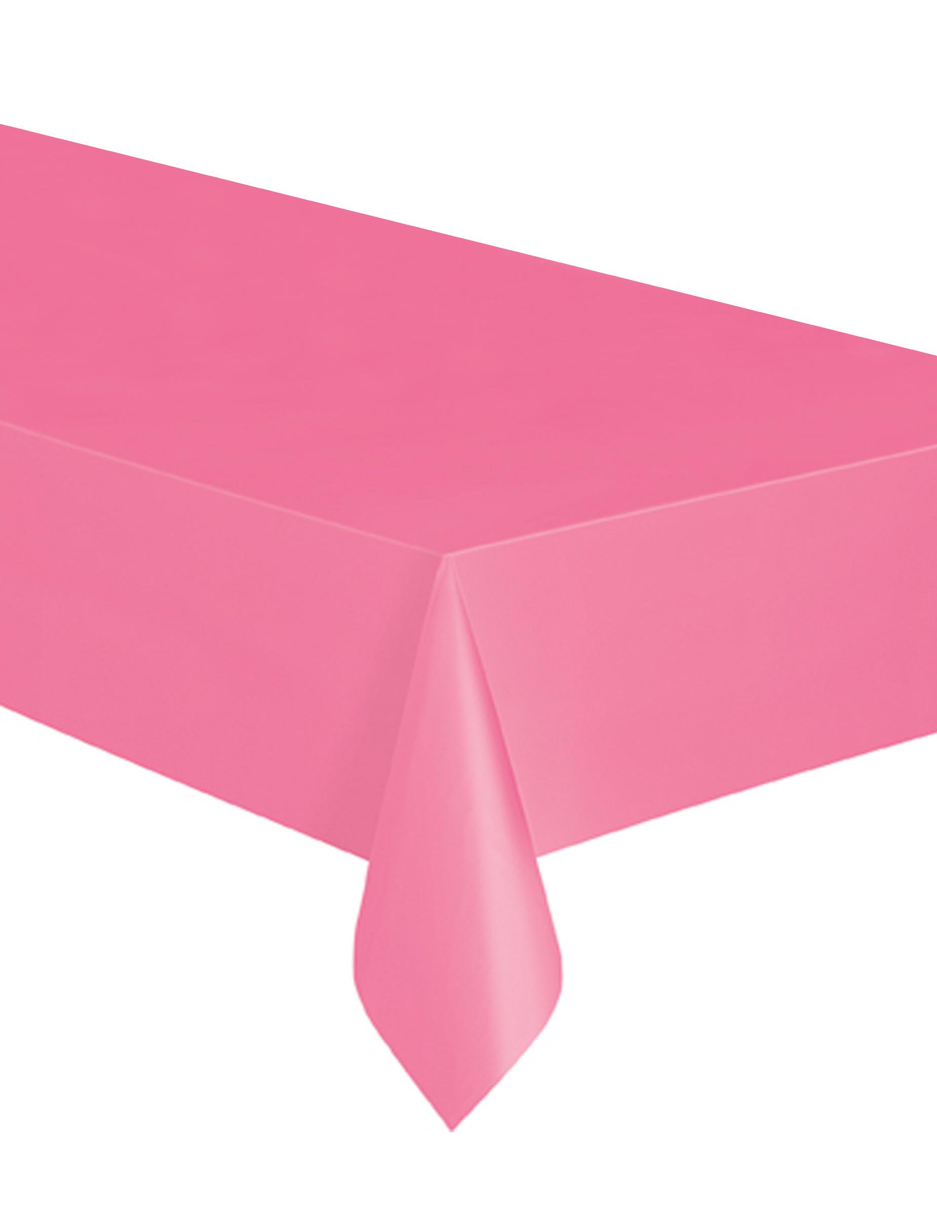 Mantel rectangular rosa pl stico decoraci n y disfraces originales baratos vegaoo - Mantel plastico ...