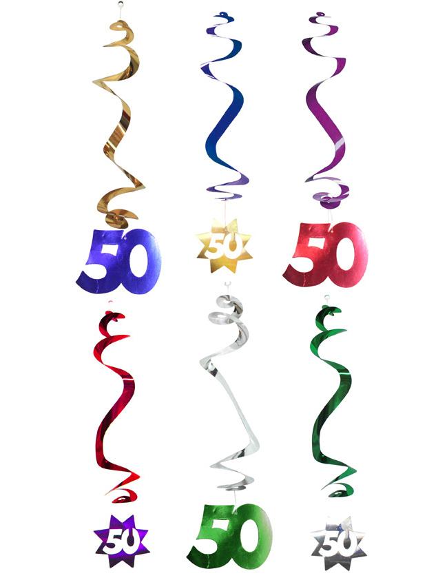 Decoraci n para colgar 50 a os decoraci n y disfraces - Decoracion para 50 cumpleanos ...