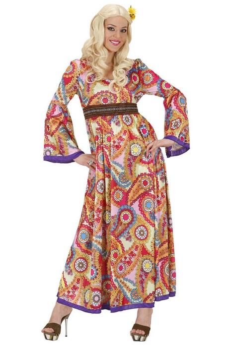 b57fe425bdaf Disfraz de hippie para mujer vestido largo